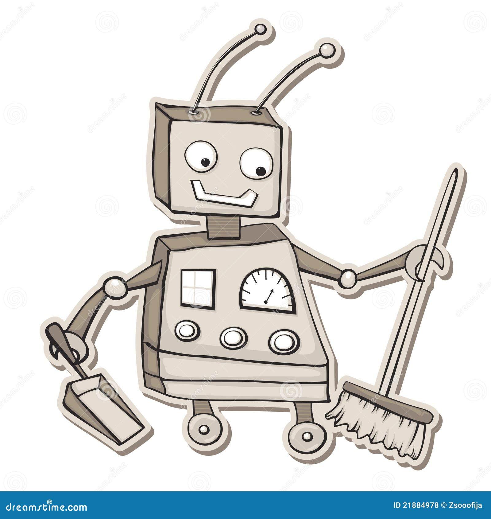 καθαρίζοντας ρομπότ