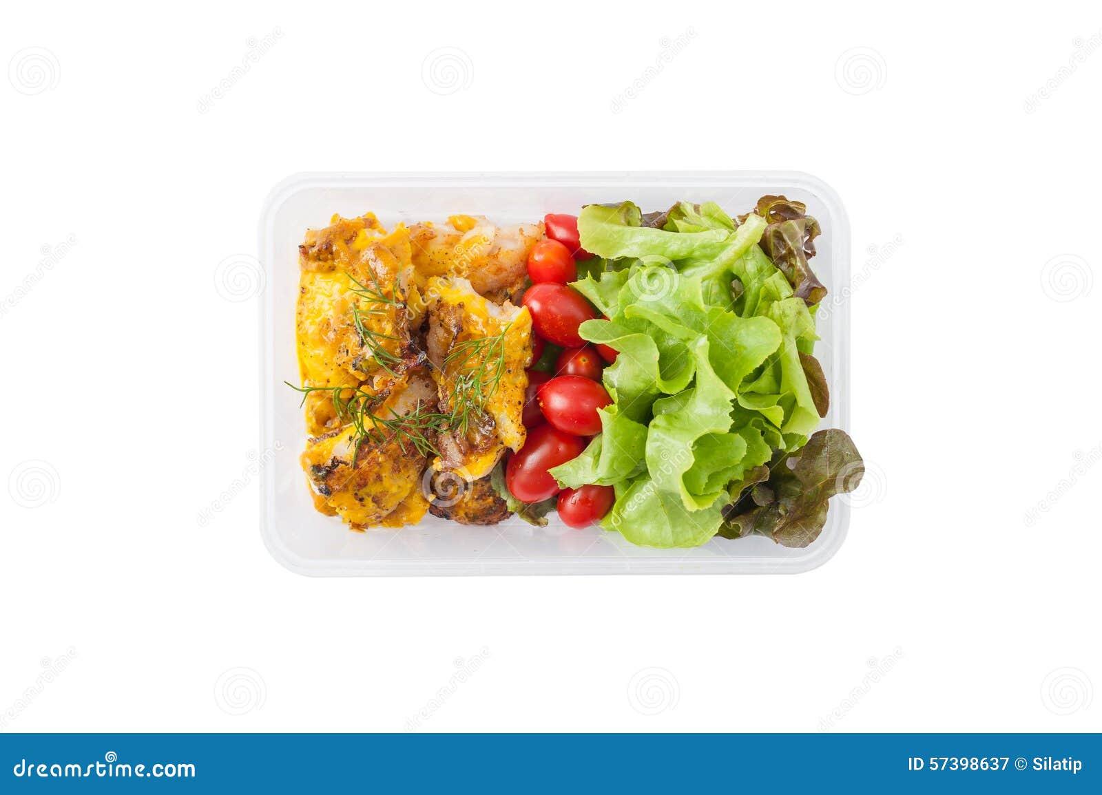 Καθαρό καλαθάκι με φαγητό τροφίμων