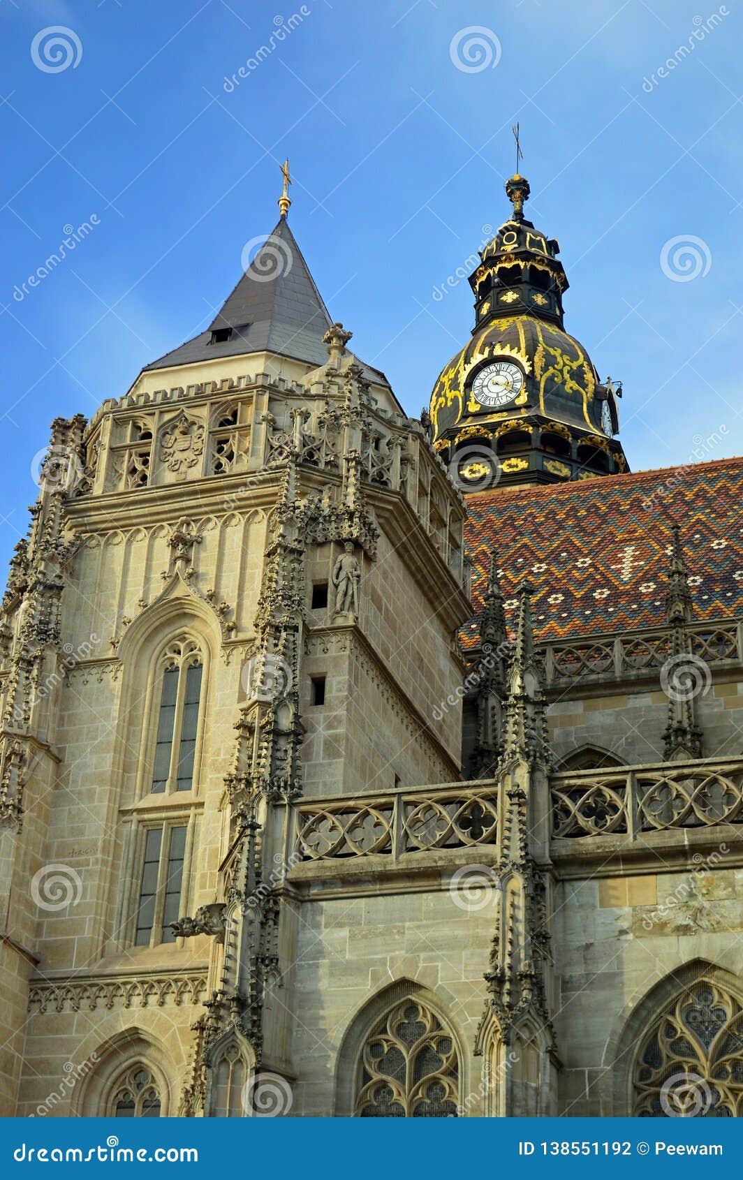 Καθεδρικός ναός ή Dà ³ μ svätej AlÅ ¾ bety Kosice Σλοβακία του ST Elisabeth