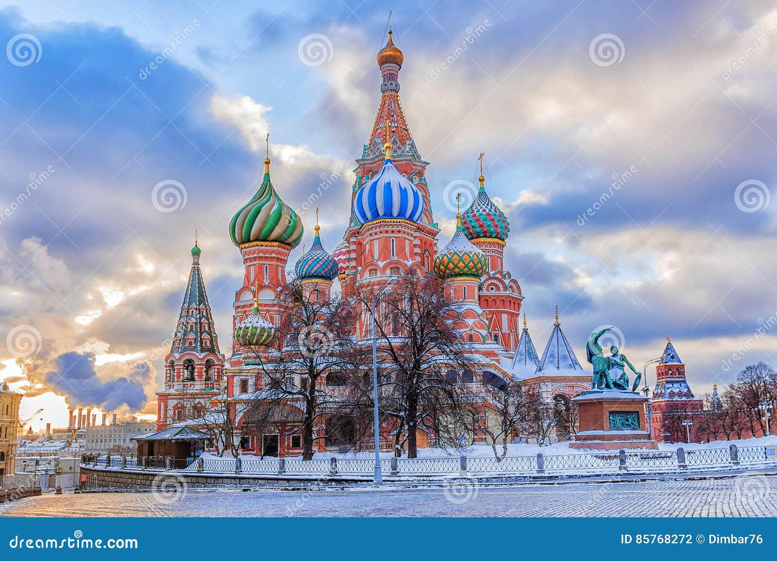 Καθεδρικός ναός βασιλικού ` s του ST στο κόκκινο τετράγωνο στη Μόσχα