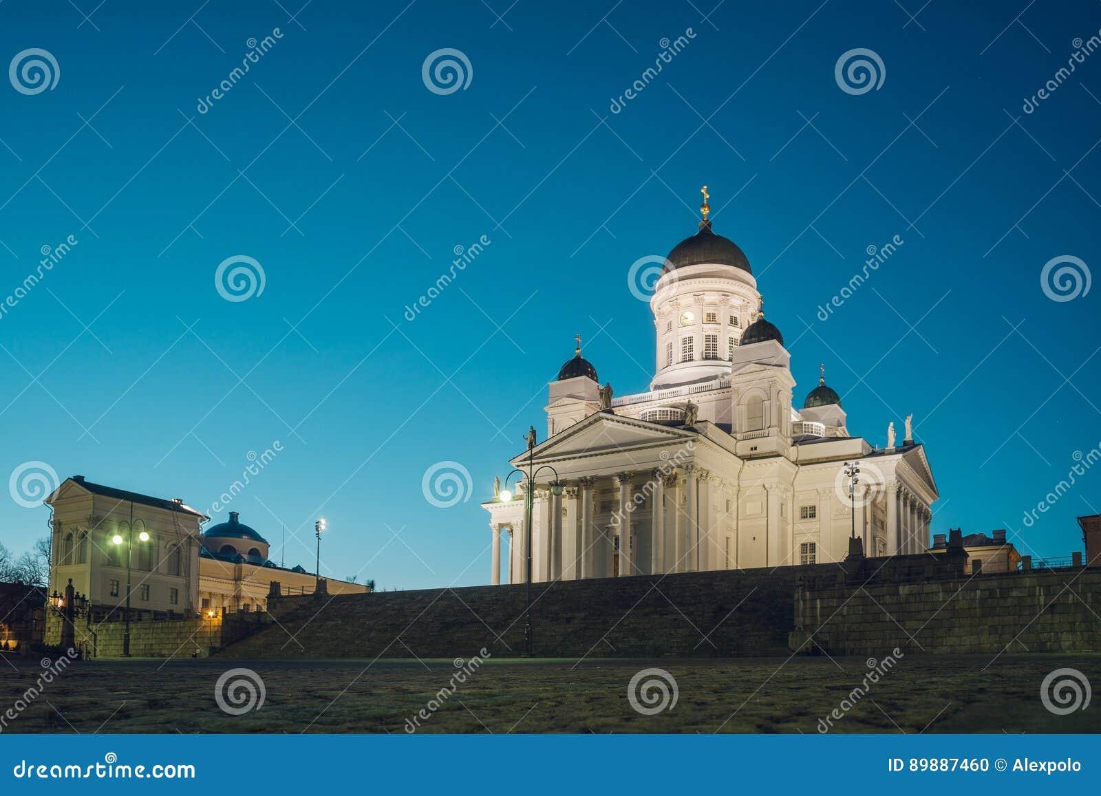 Καθεδρικός ναός του Ελσίνκι μέχρι το βράδυ, Φινλανδία