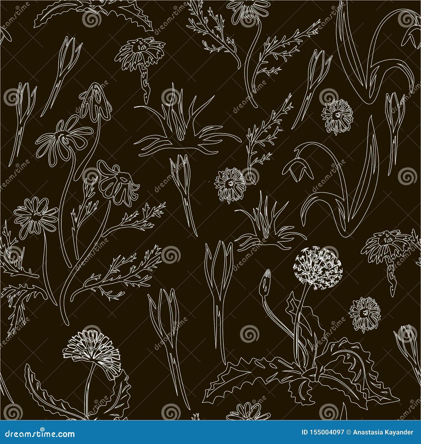 Καθιερώνον τη μόδα άνευ ραφής Floral σχέδιο στο διάνυσμα