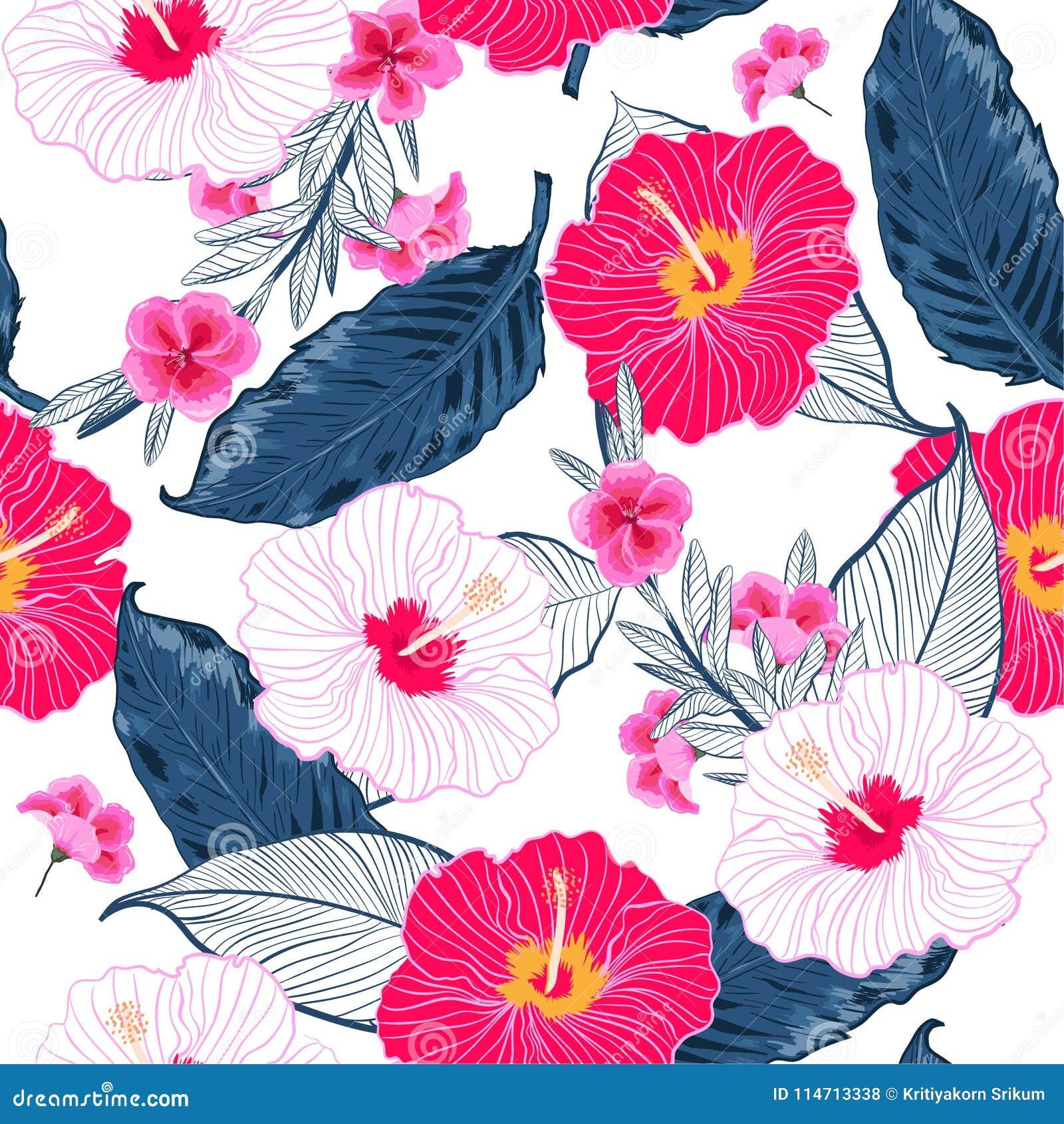 Καθιερώνον τη μόδα άνευ ραφής floral σχέδιο, φωτεινό και φρέσκο θερινό BA