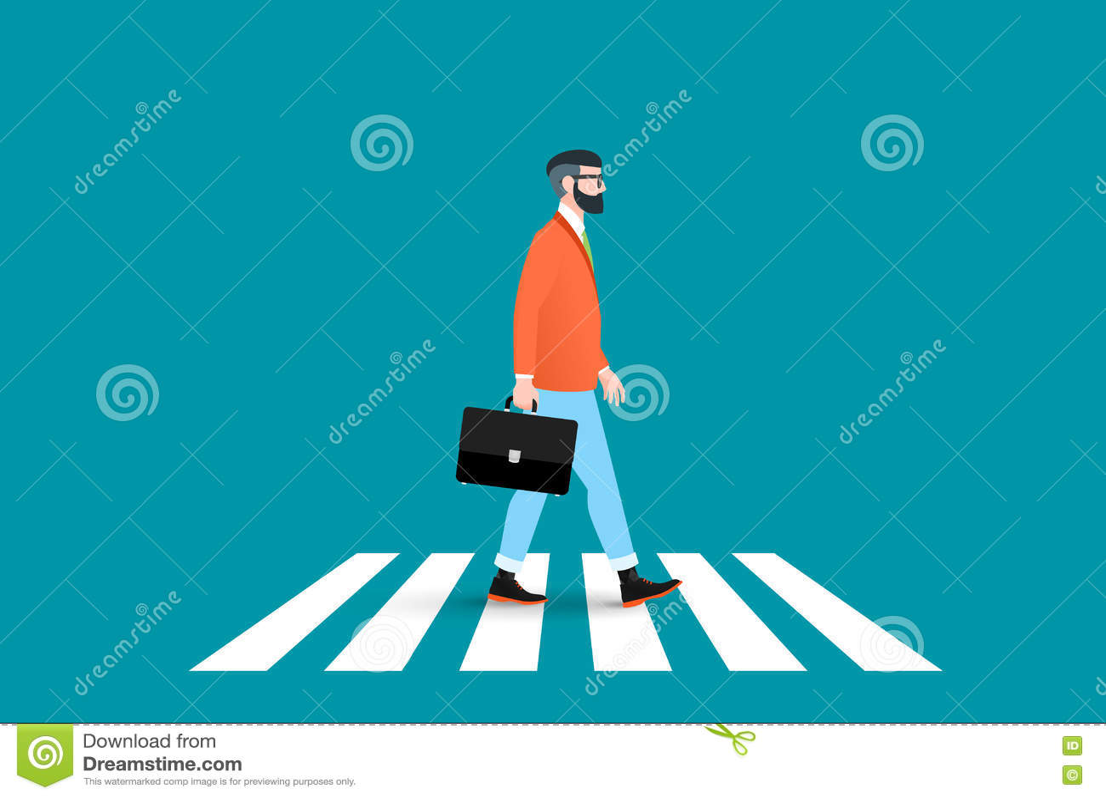 Καθιερώνουσα τη μόδα ηπειρωτική διάβαση πεζών για τους πεζούς περάσματος nerd hipster Αυτός ο επιχειρηματίας που φορά ένα στερεό