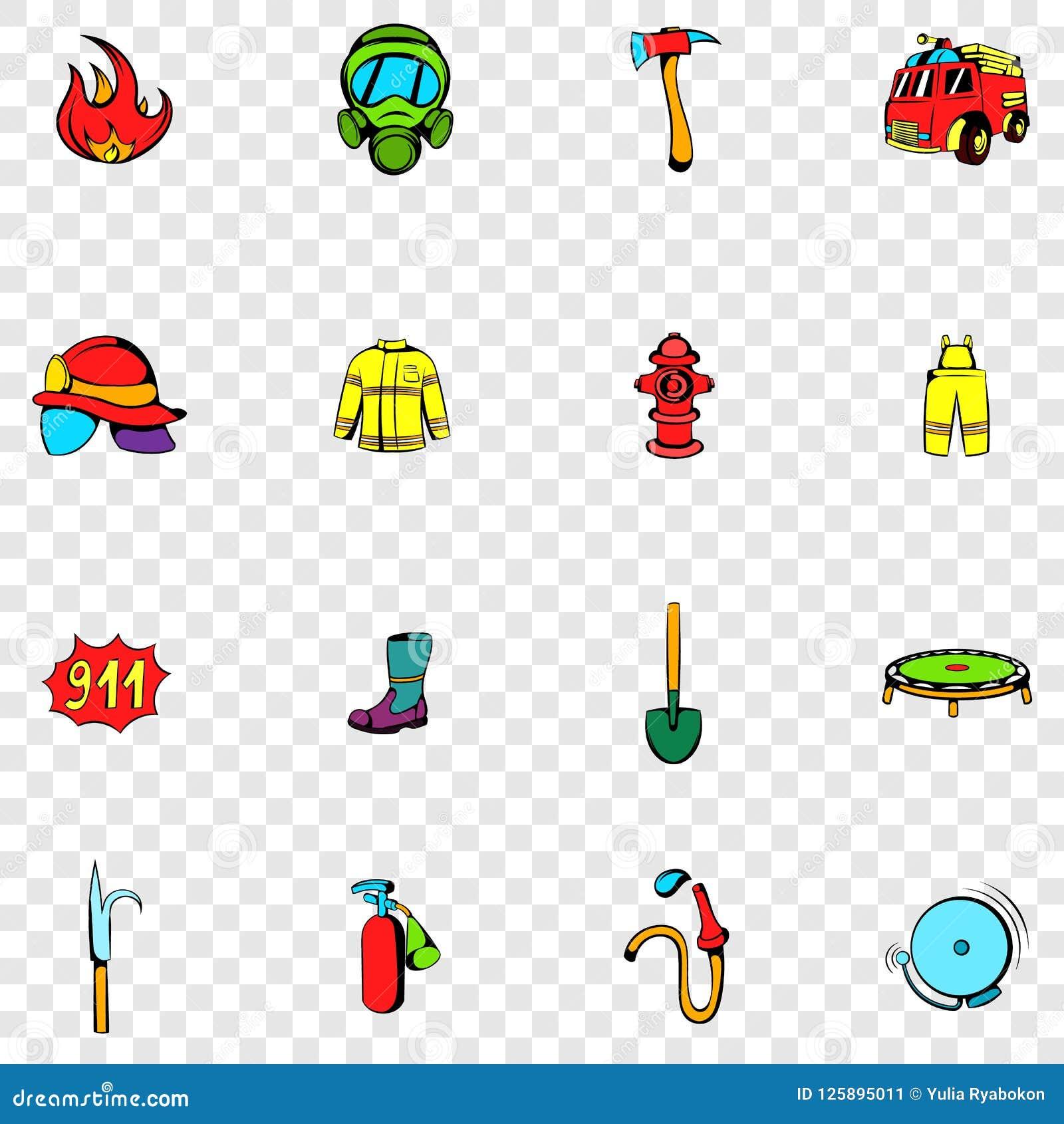 Καθορισμένα εικονίδια πυροσβεστών