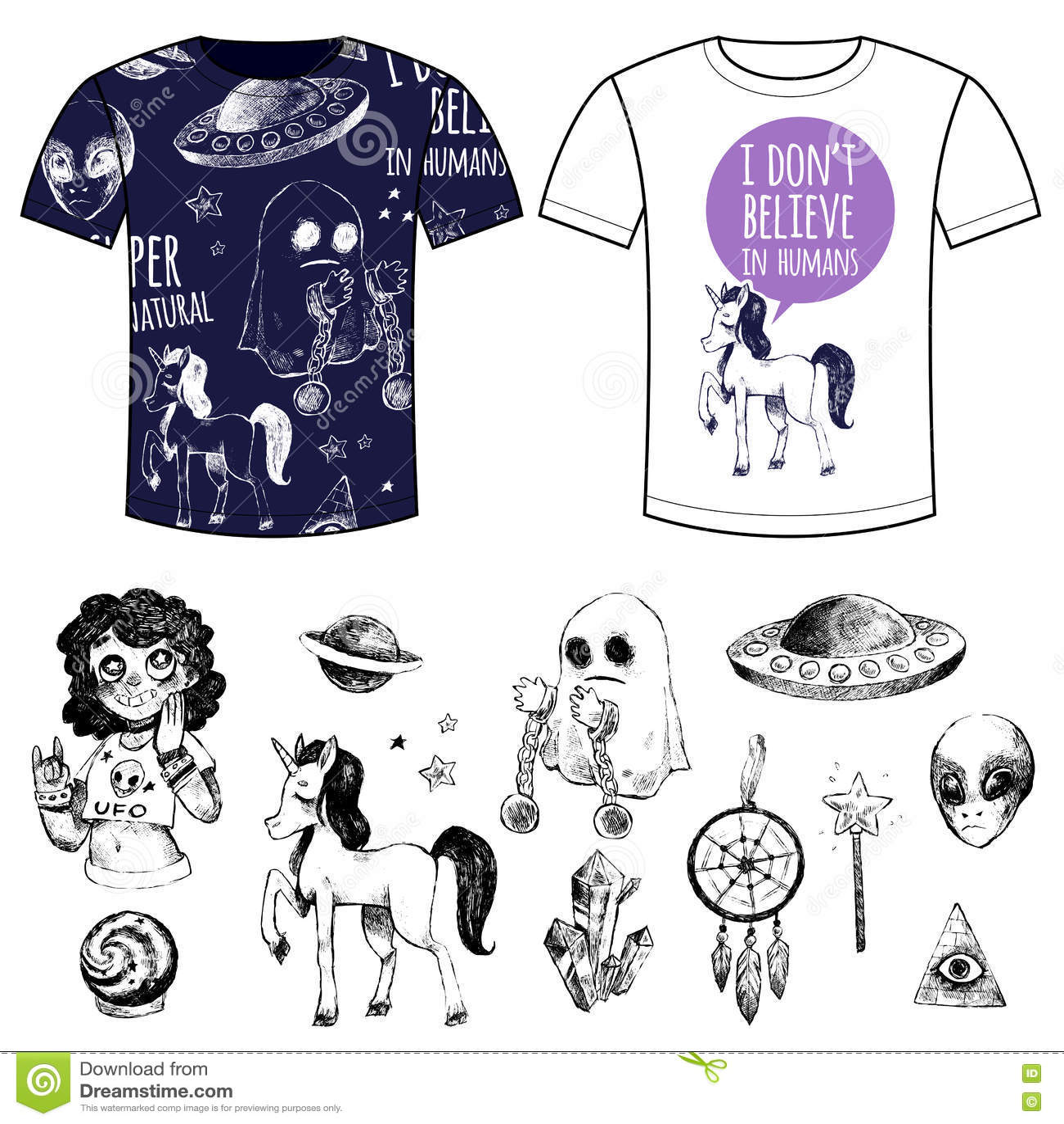 7257f34ddc3d Καθορισμένες μυστικές αντικείμενα και μπλούζες με τις τυπωμένες ύλες ...