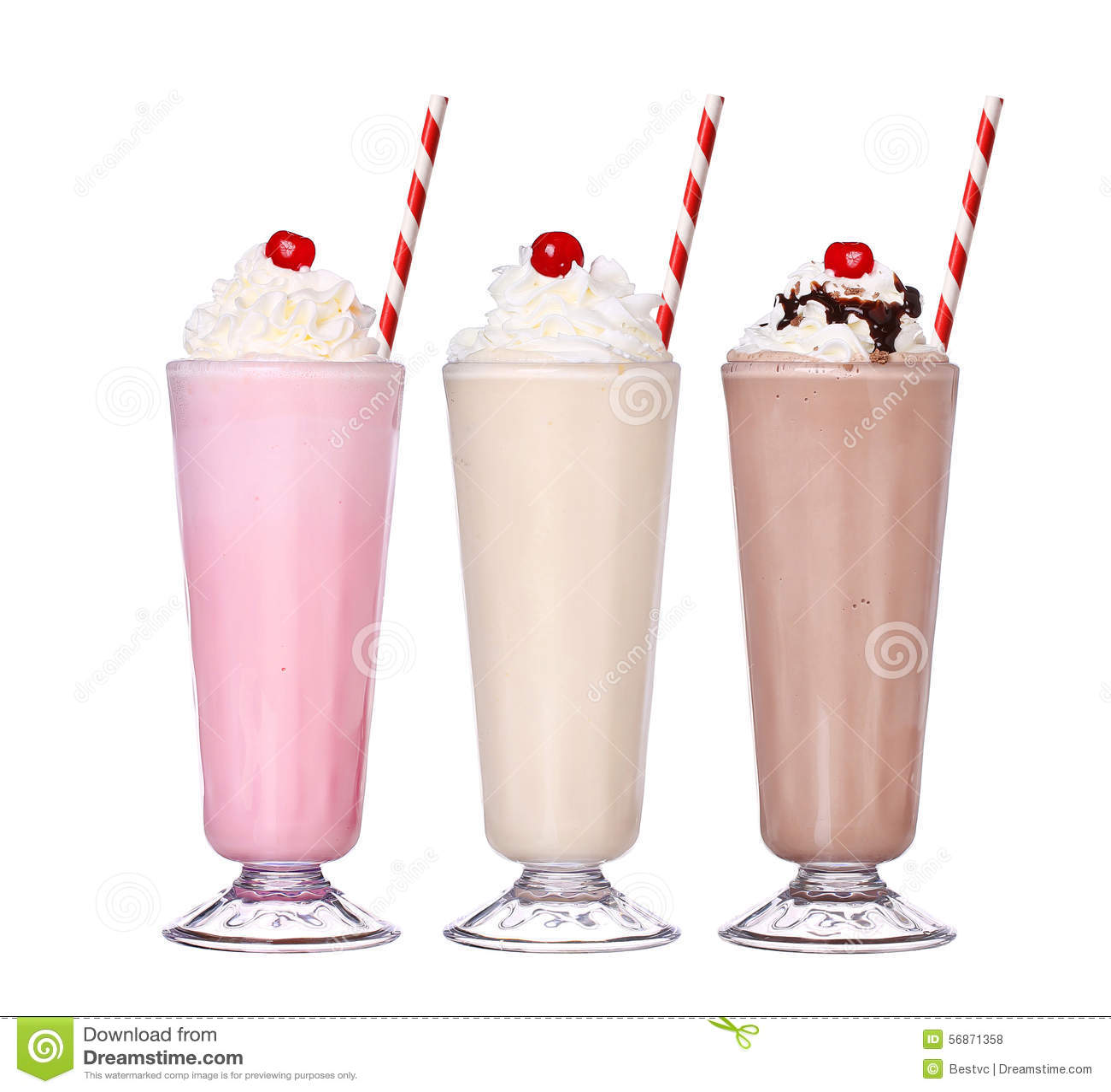 Καθορισμένη συλλογή παγωτού γεύσης σοκολάτας Milkshakes