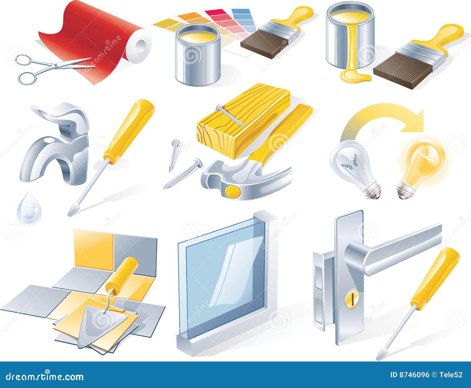 καθορισμένο διάνυσμα υπηρεσιών επισκευής βασικών εικονιδίων