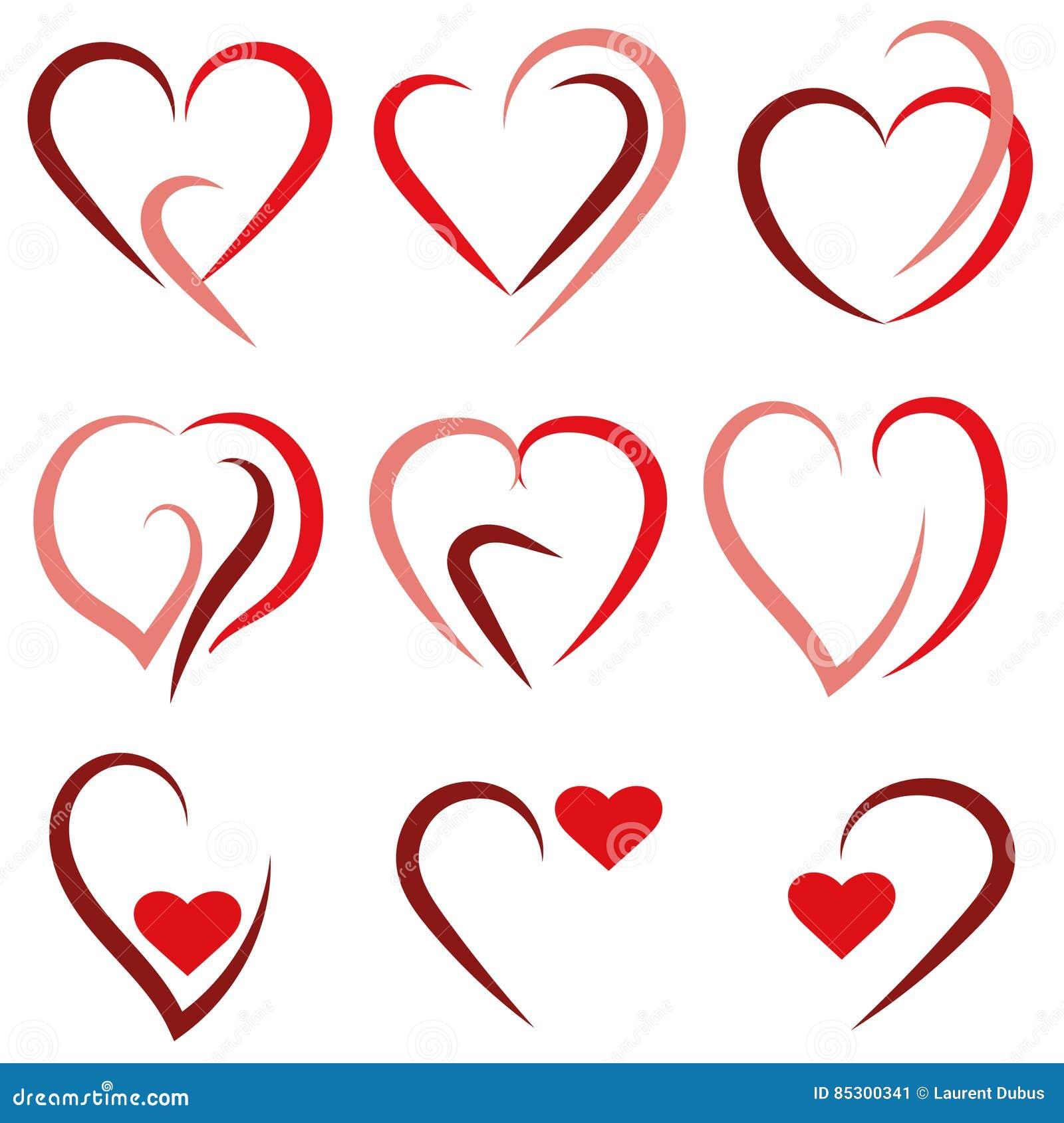 Καθορισμένο λογότυπο καρδιών - διάνυσμα