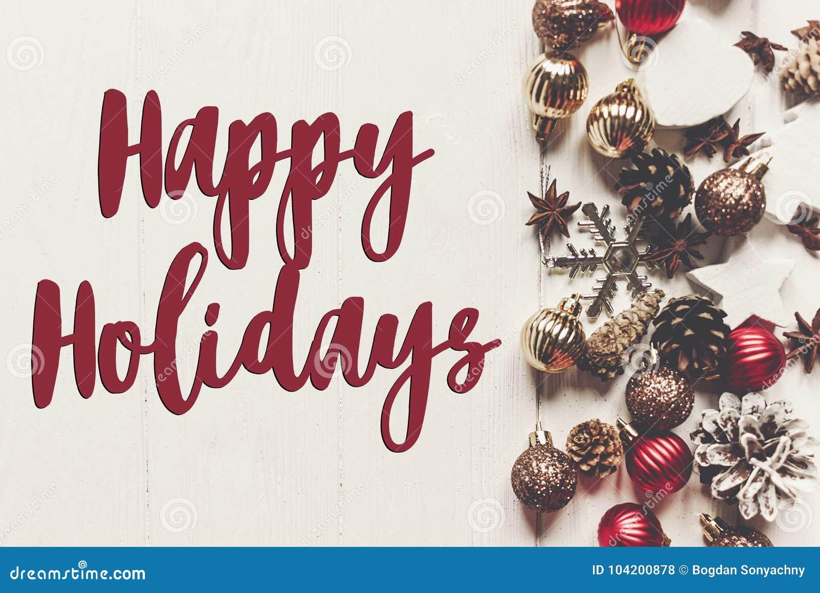 Καλές διακοπές κείμενο, εποχιακό σημάδι καρτών χαιρετισμών σύγχρονο orname