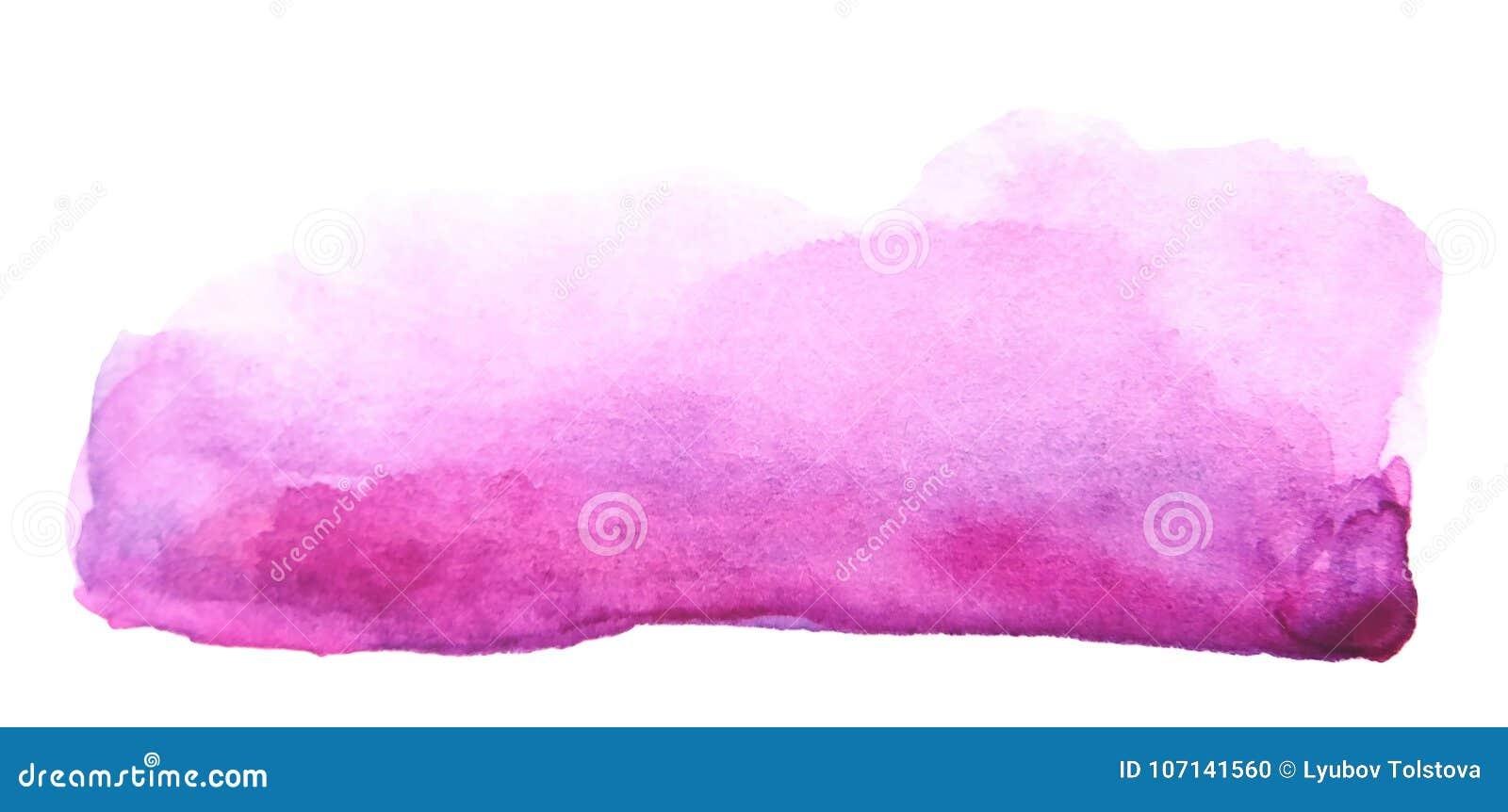 Καλλιτεχνικό κτύπημα βουρτσών watercolor δημιουργικό πορφυρό