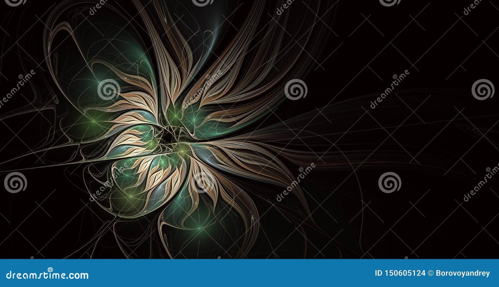 Καλλιτεχνικό λουλούδι φαντασίας με την επίδραση φωτισμού