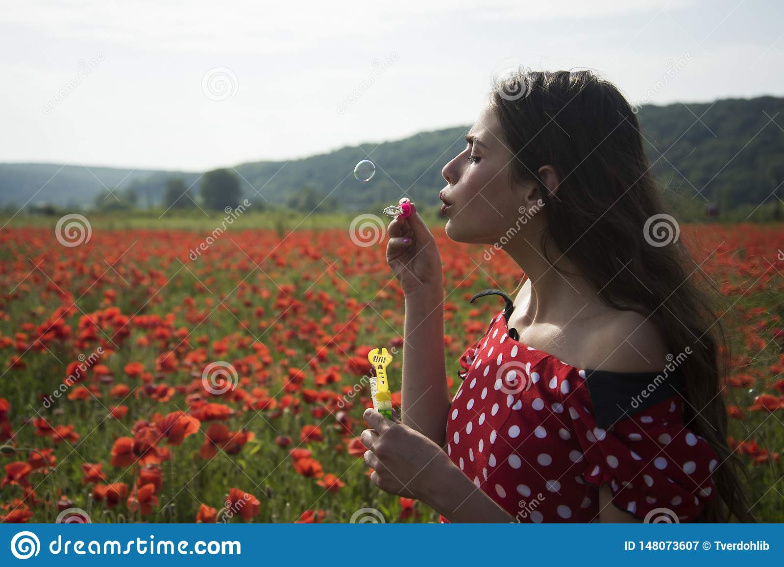 Καλοκαίρι, άνοιξη, λουλούδι παπαρουνών