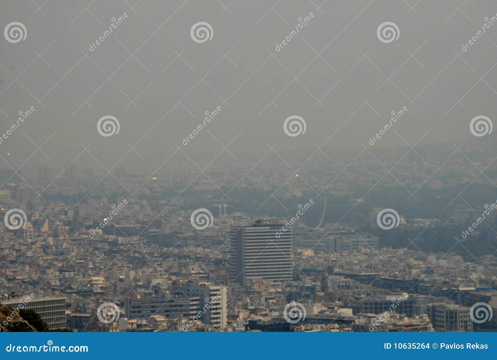 καλυμμένος η Αθήνα καπνός &ta