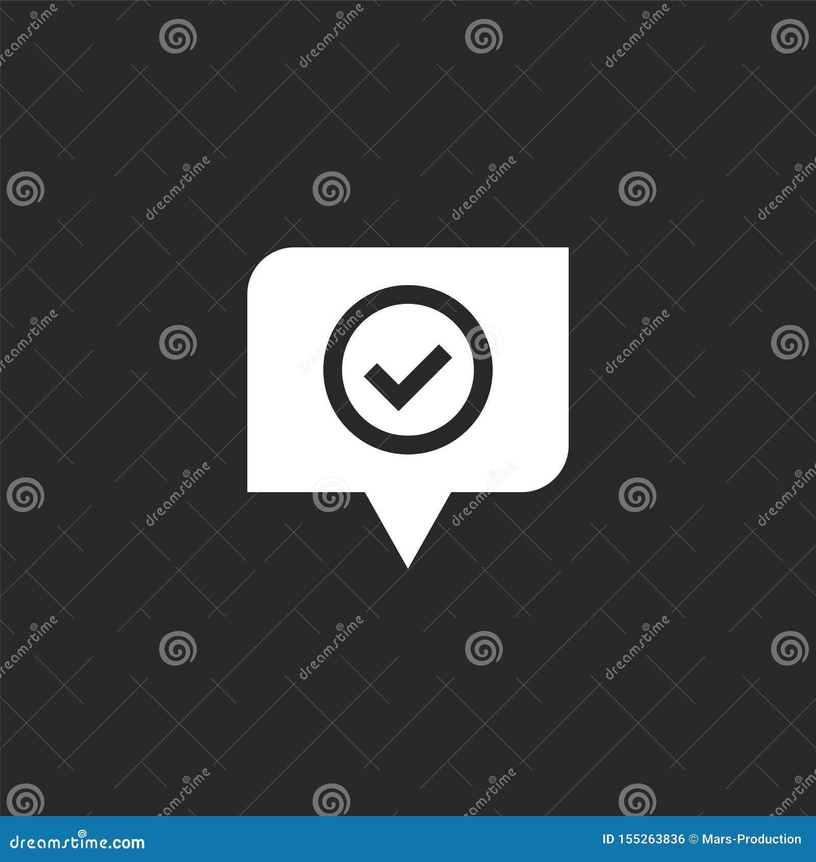 καλό εικονίδιο Γεμισμένο καλό εικονίδιο για το σχέδιο ιστοχώρου και κινητός, app ανάπτυξη το καλό εικονίδιο από γεμισμένος ανατρο