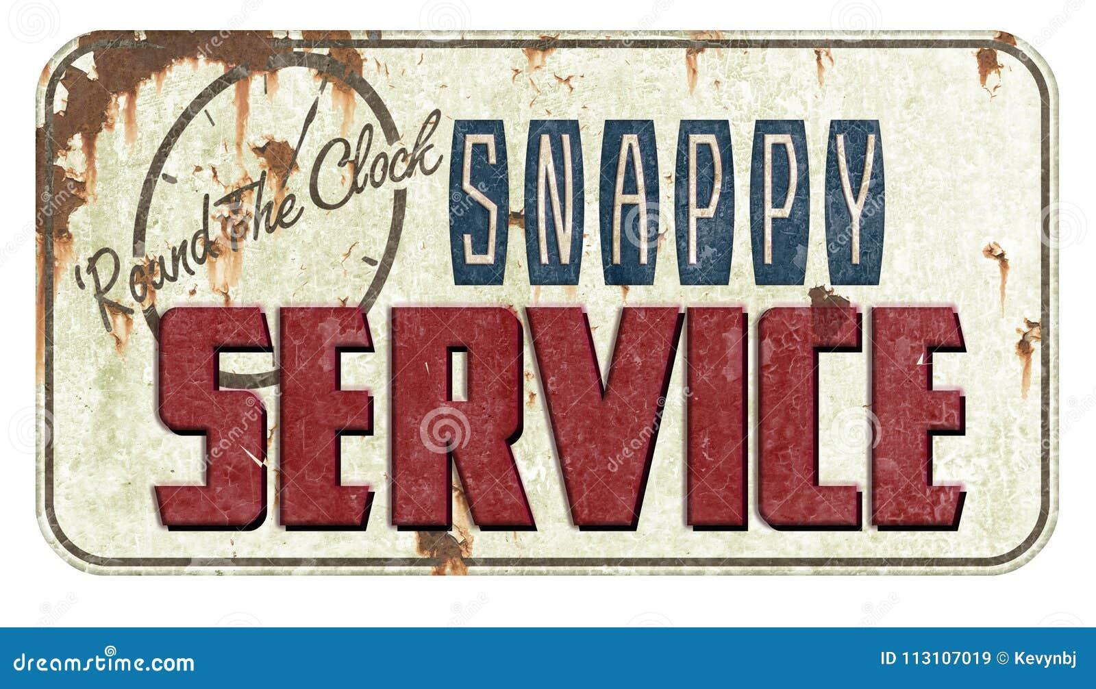 Καλό σημάδι κασσίτερου υπηρεσιών