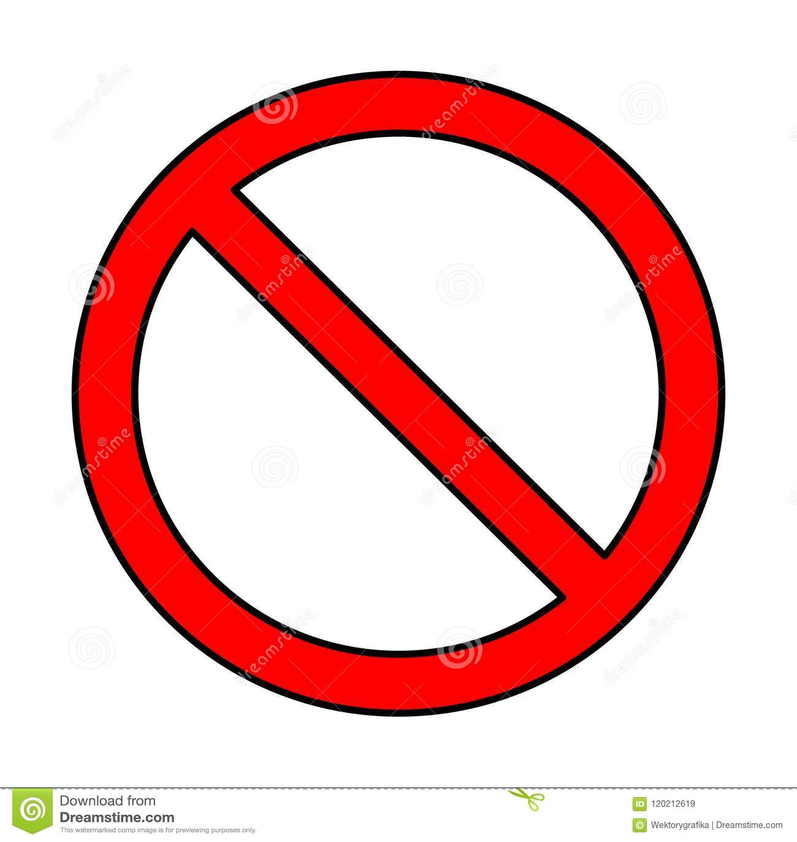 Κανένα σημάδι, σχέδιο συμβόλων απαγόρευσης που απομονώνεται στο άσπρο υπόβαθρο