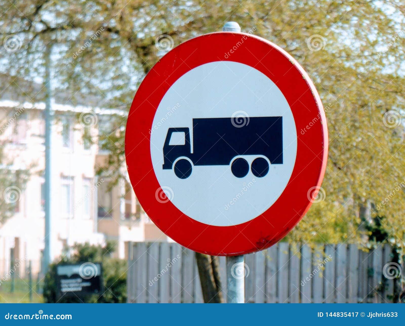Κανένα φορτηγό, βαριά κυκλοφορία που επιτρέπεται Ολλανδικό σημάδι