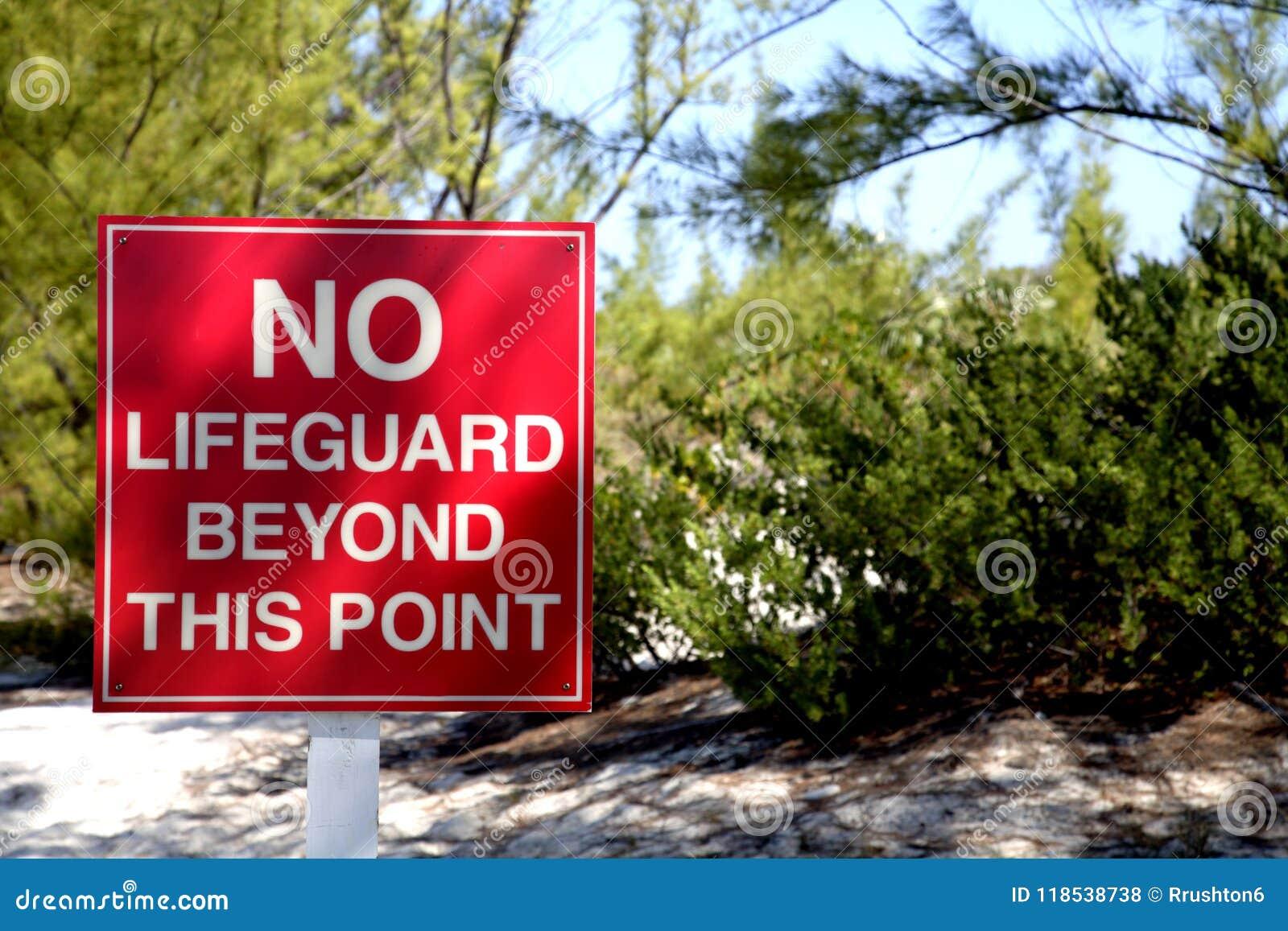 Κανένα Lifeguard πέρα από αυτό το σημείο