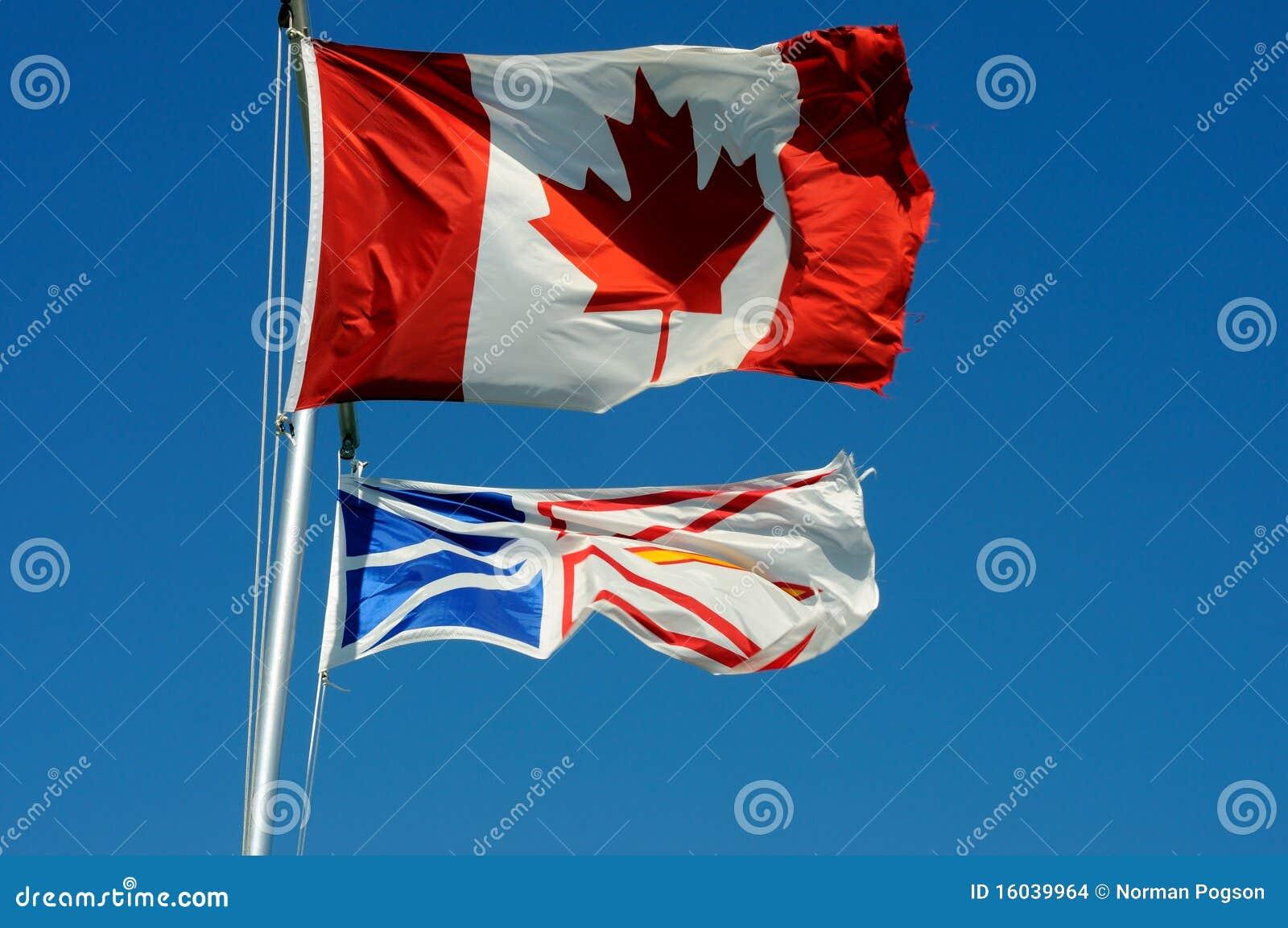 καναδικές σημαίες νέα γη