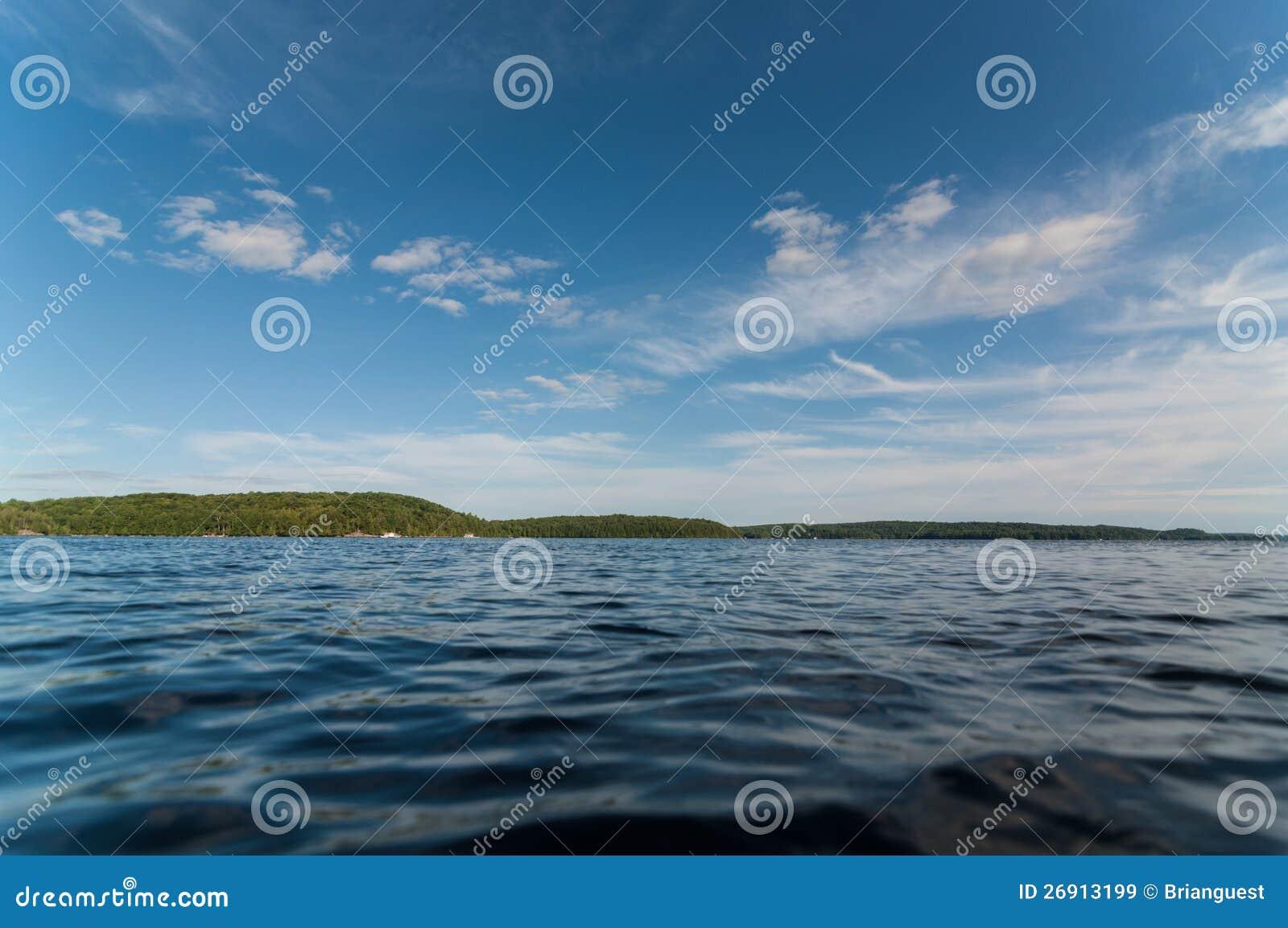 Καναδική λίμνη το καλοκαίρι