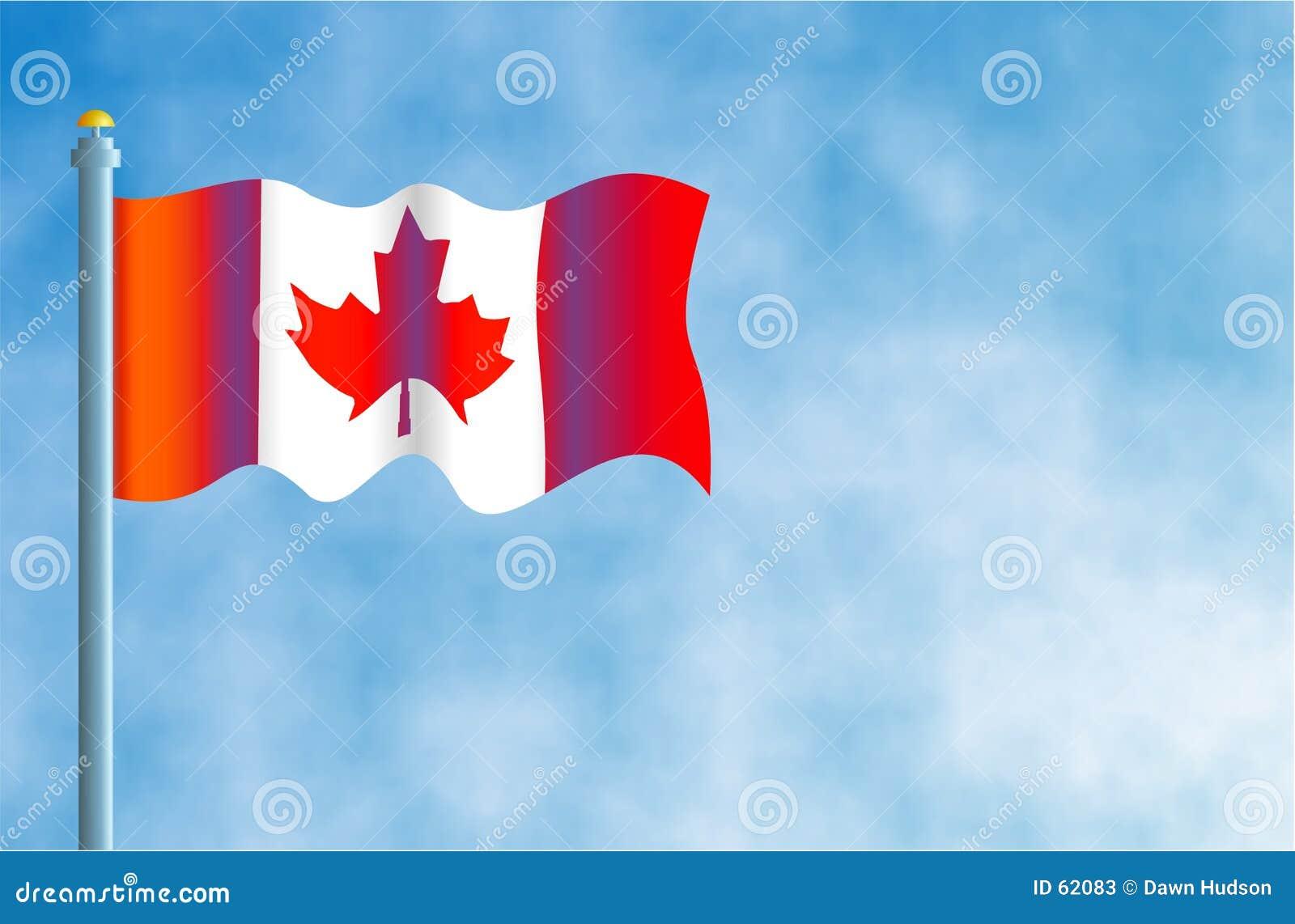 Download καναδική σημαία απεικόνιση αποθεμάτων. εικονογραφία από έθνη - 62083