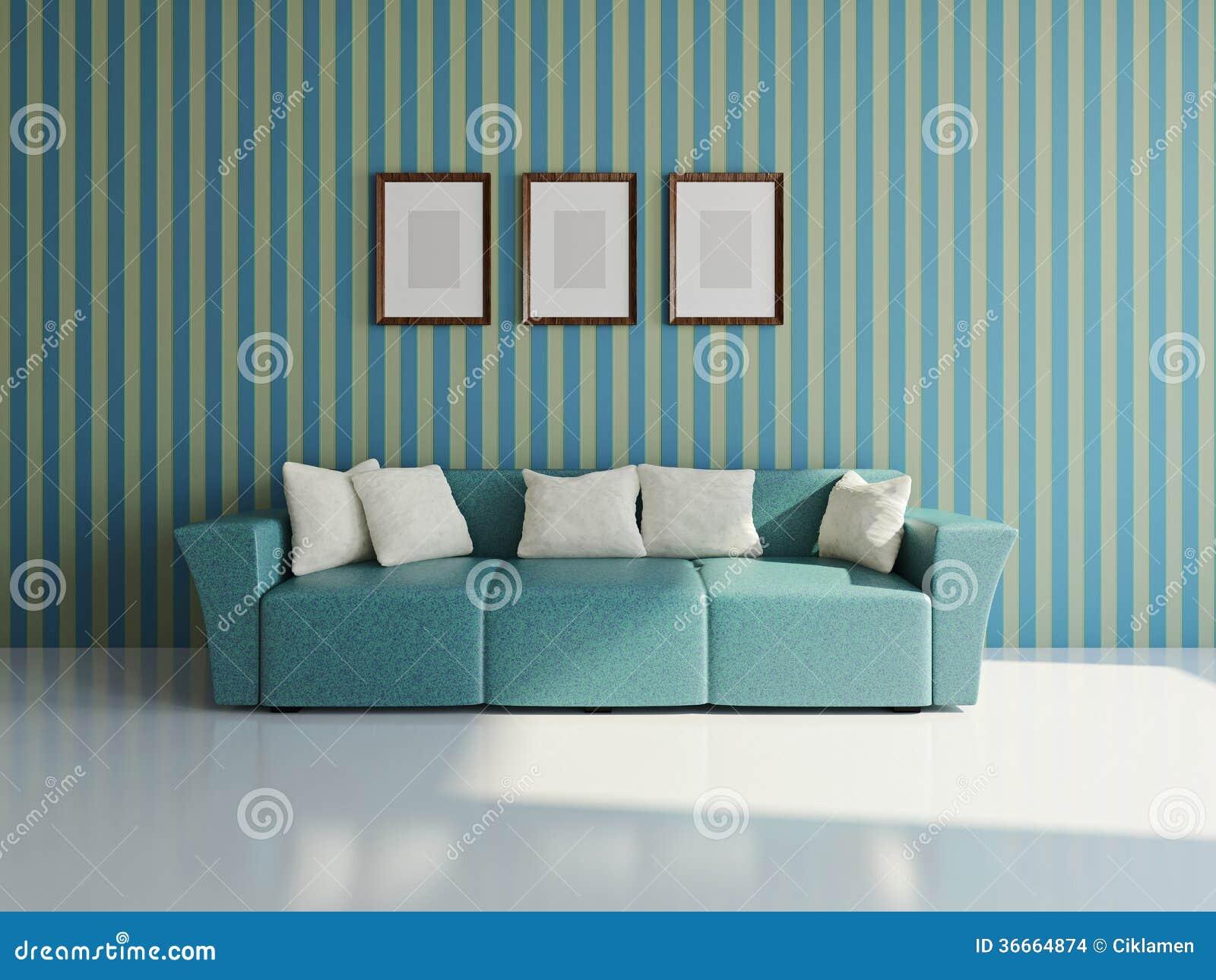 Καναπές με τα μαξιλάρια