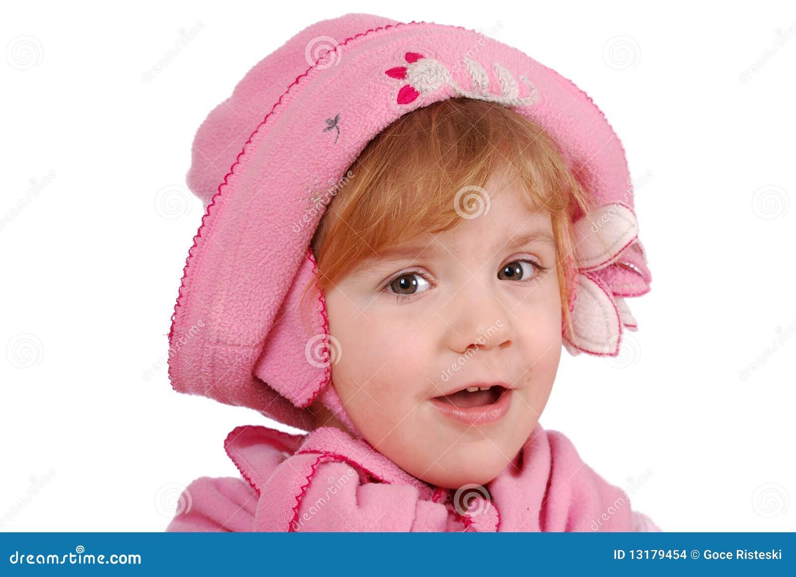 καπέλο κοριτσιών λίγο ρόδ&io