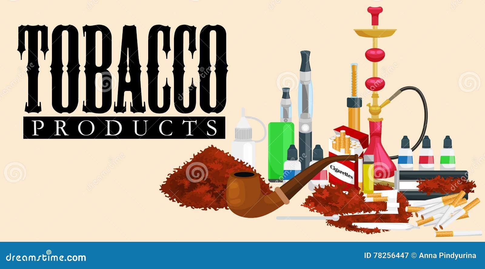 Καπνίζοντας εικονίδια προϊόντων καπνού που τίθενται με την ελαφρύτερη διανυσματική απεικόνιση πούρων τσιγάρων hookah