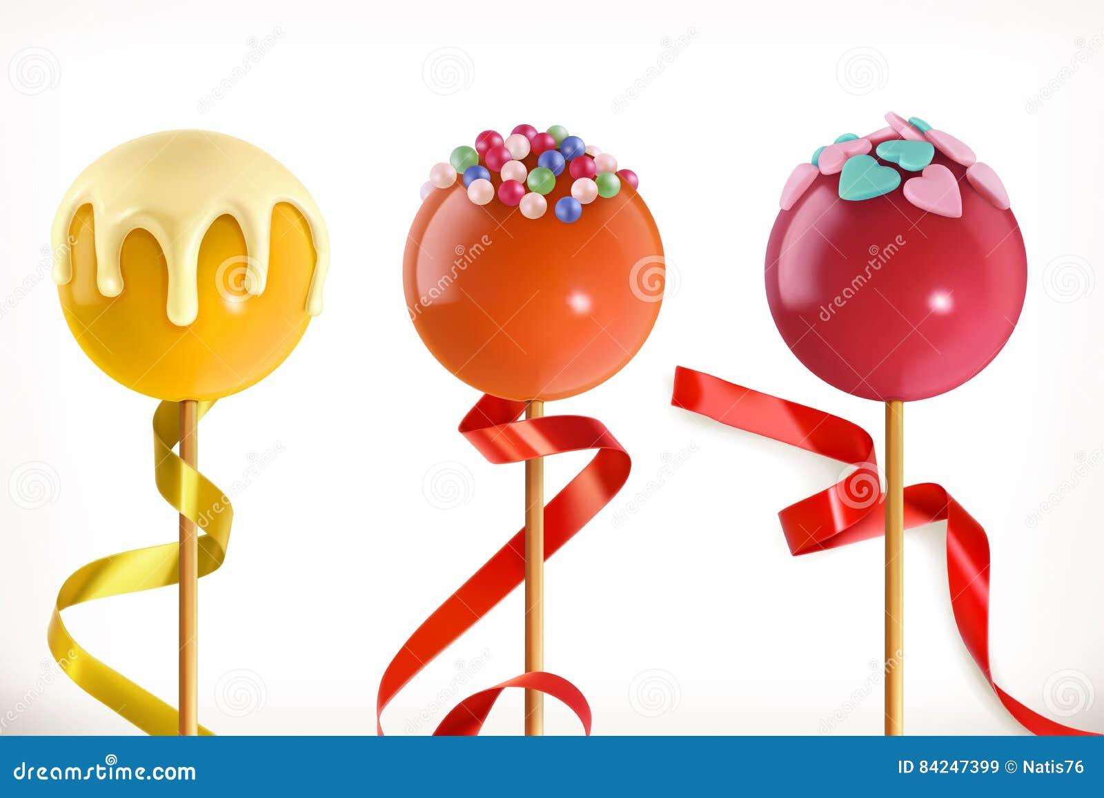 Καραμέλα Lollipop τρισδιάστατο διάνυσμα ε&iot