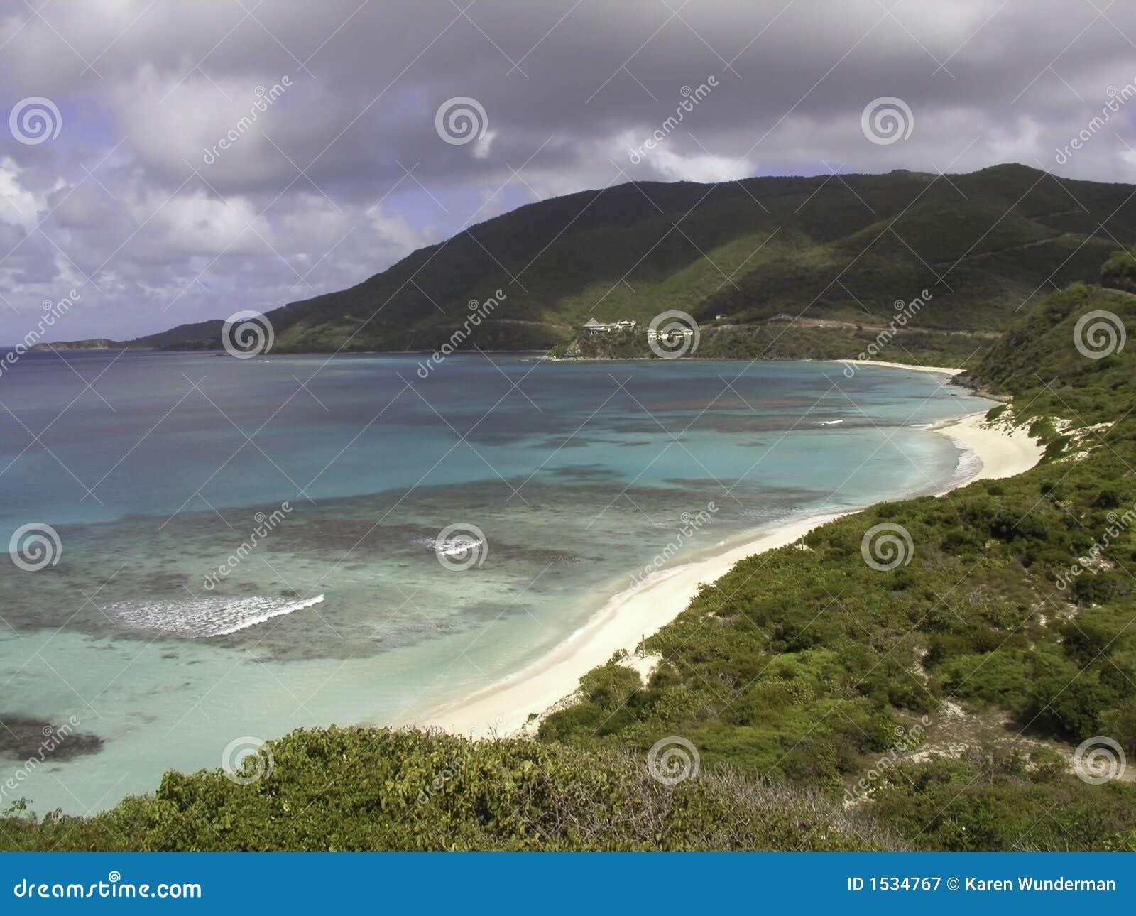 καραϊβικό gorda Virgin παραλιών