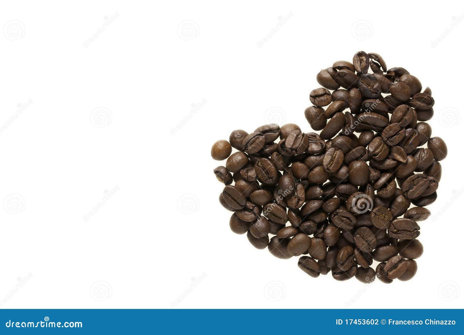 καρδιά καφέ φασολιών που &gam