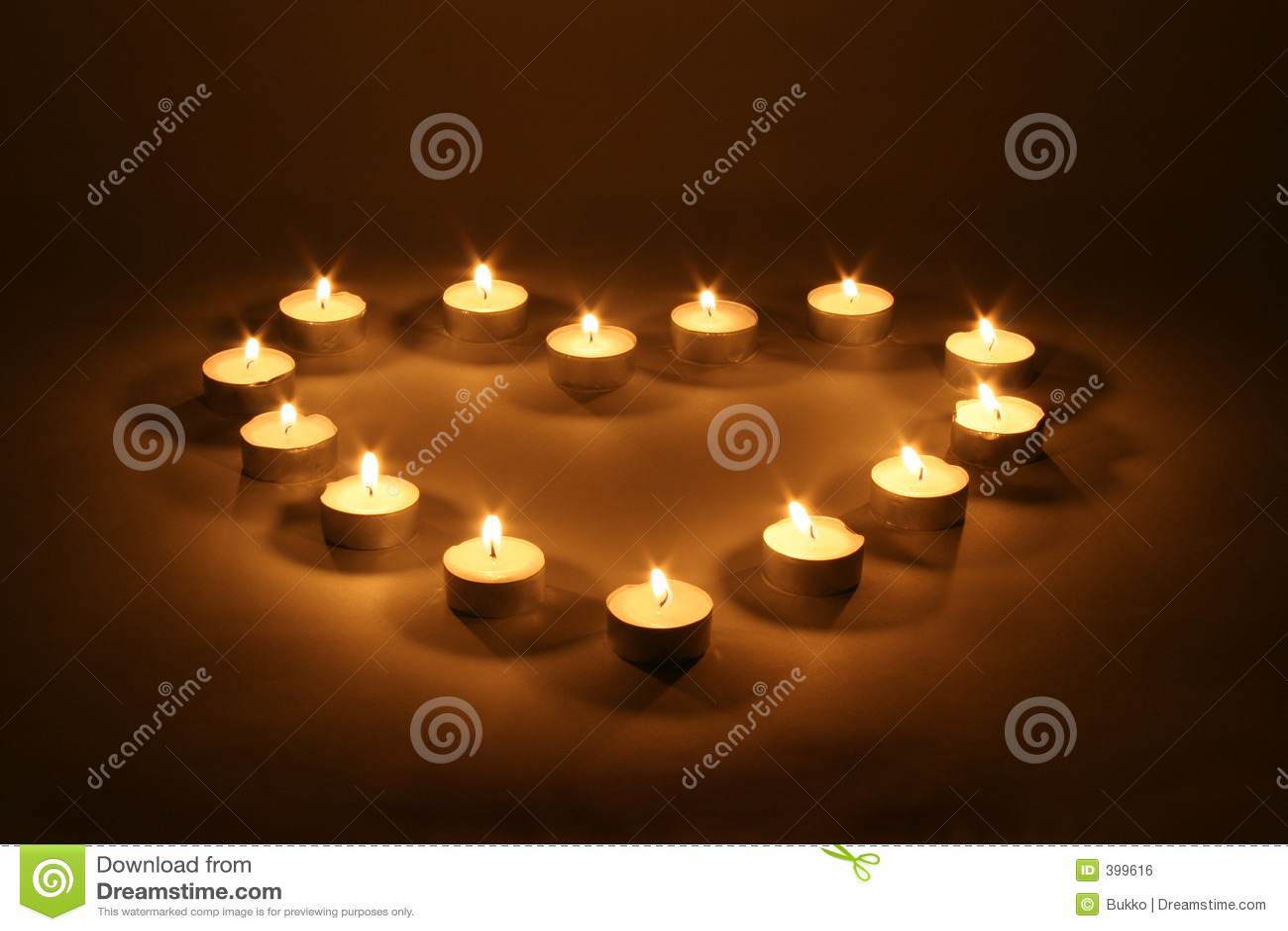 καρδιά κεριών