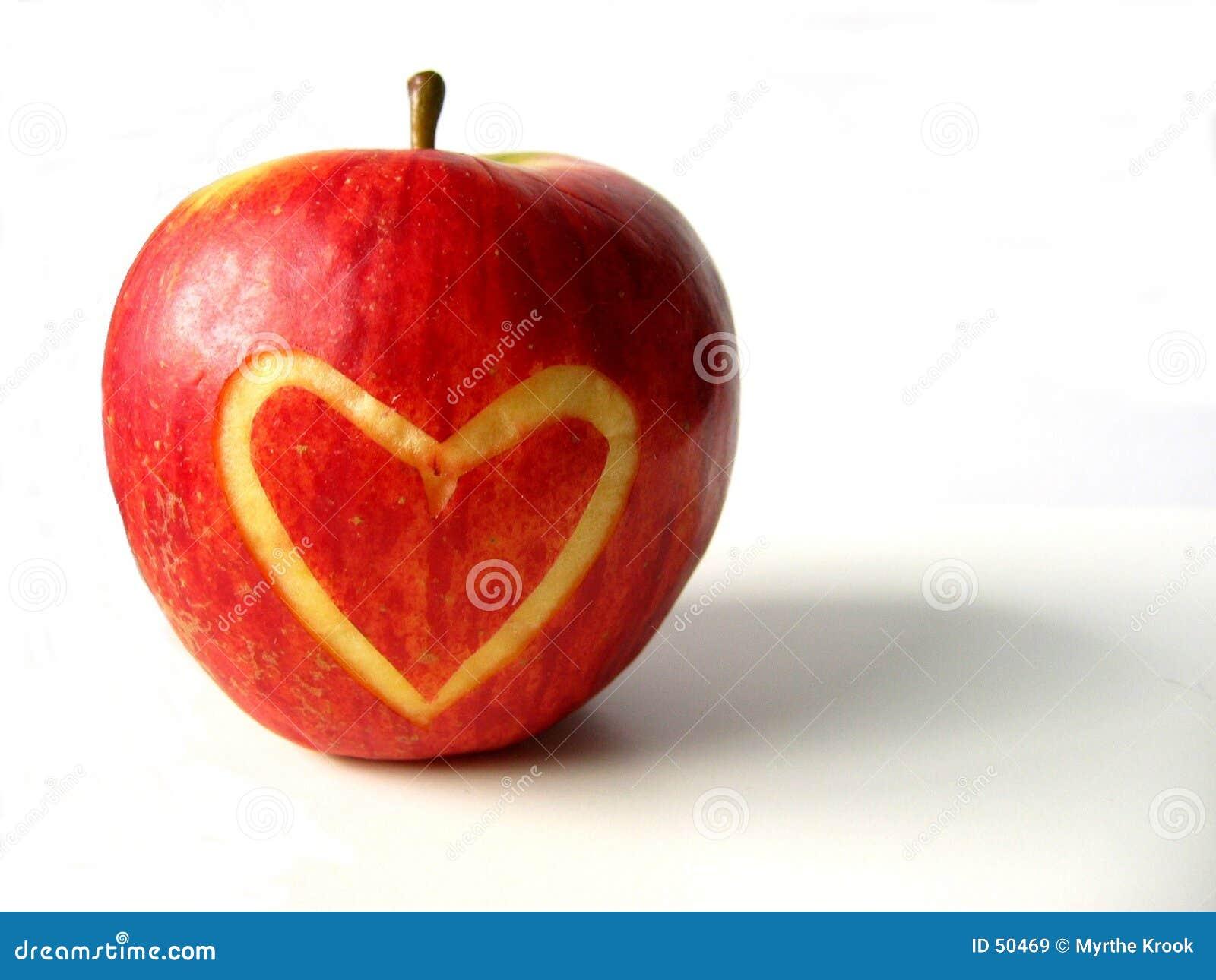 καρδιά μήλων