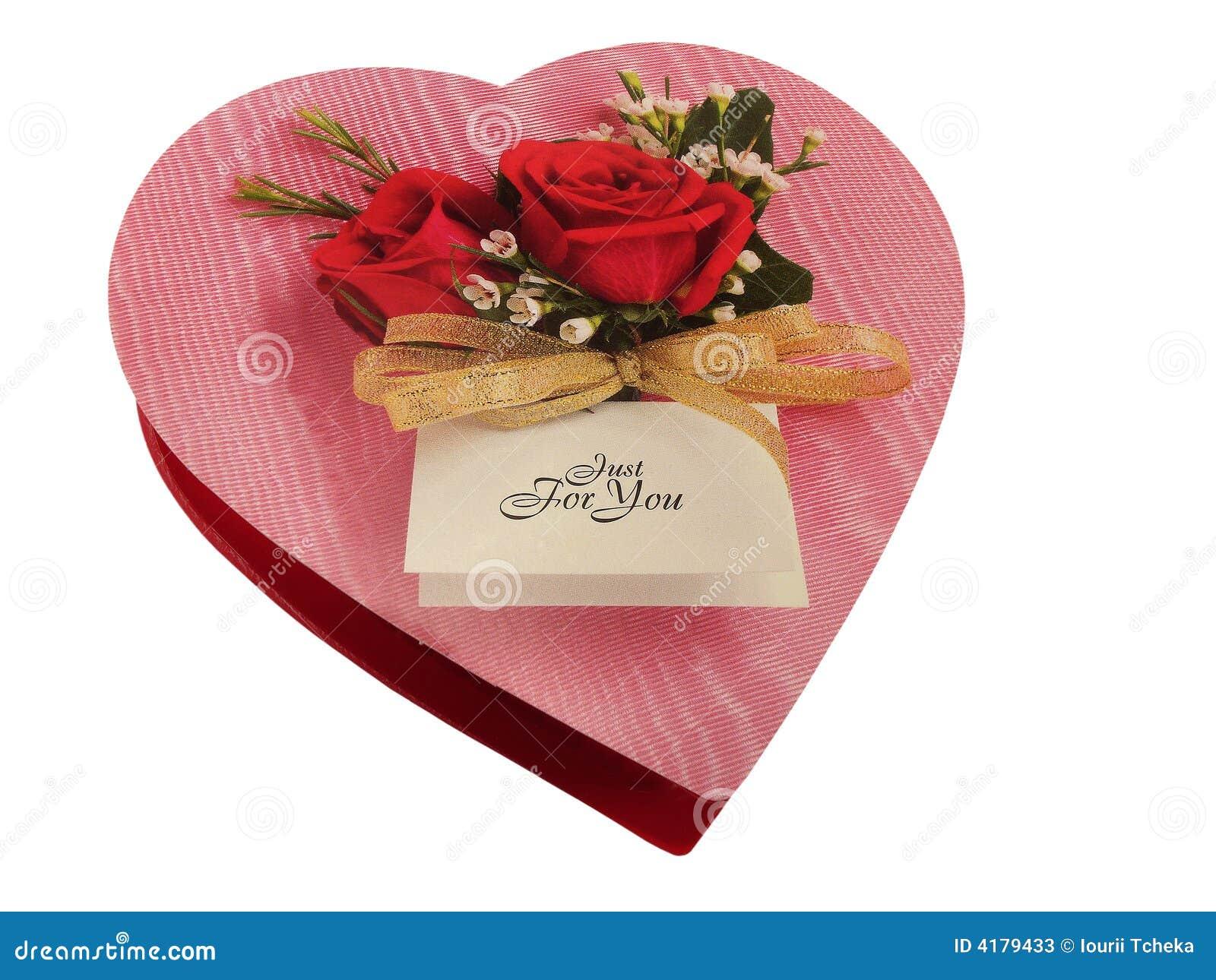 καρδιά σοκολάτας κιβωτί&