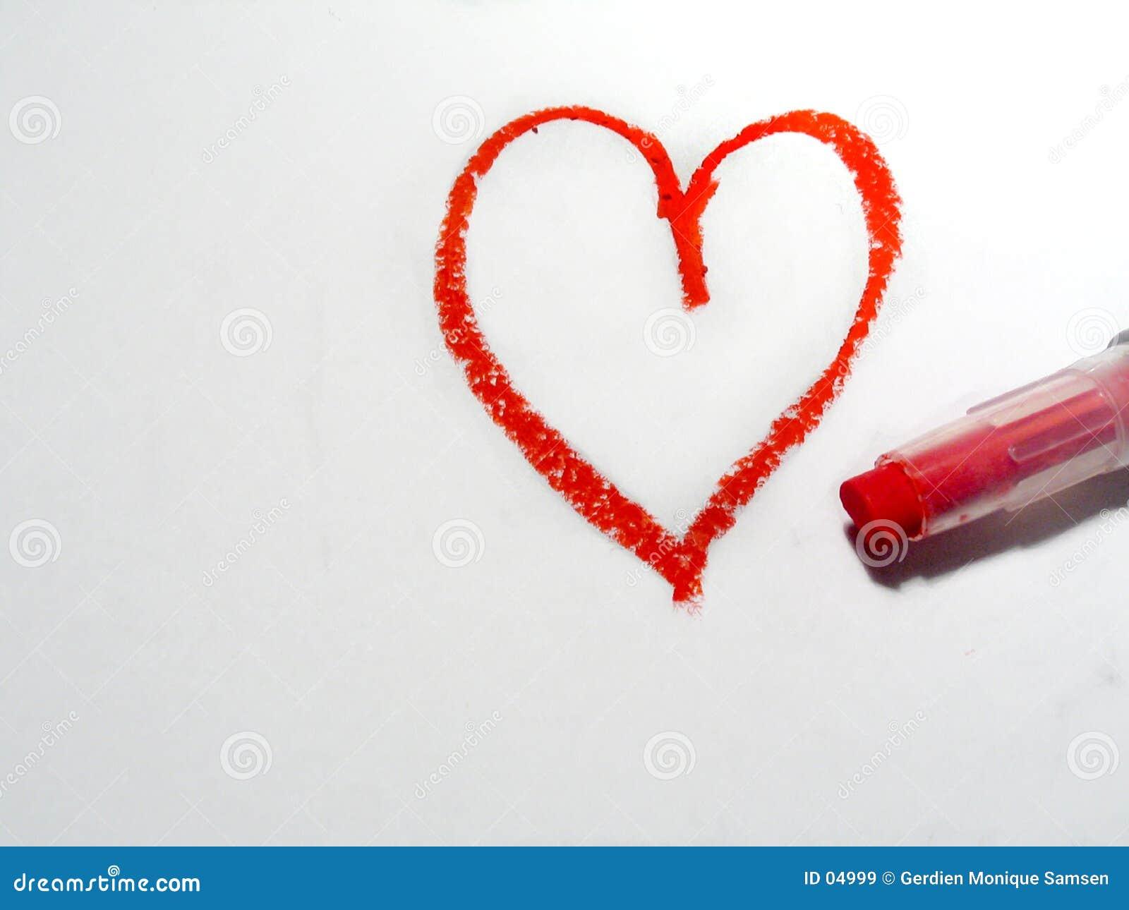 καρδιά oilpastel