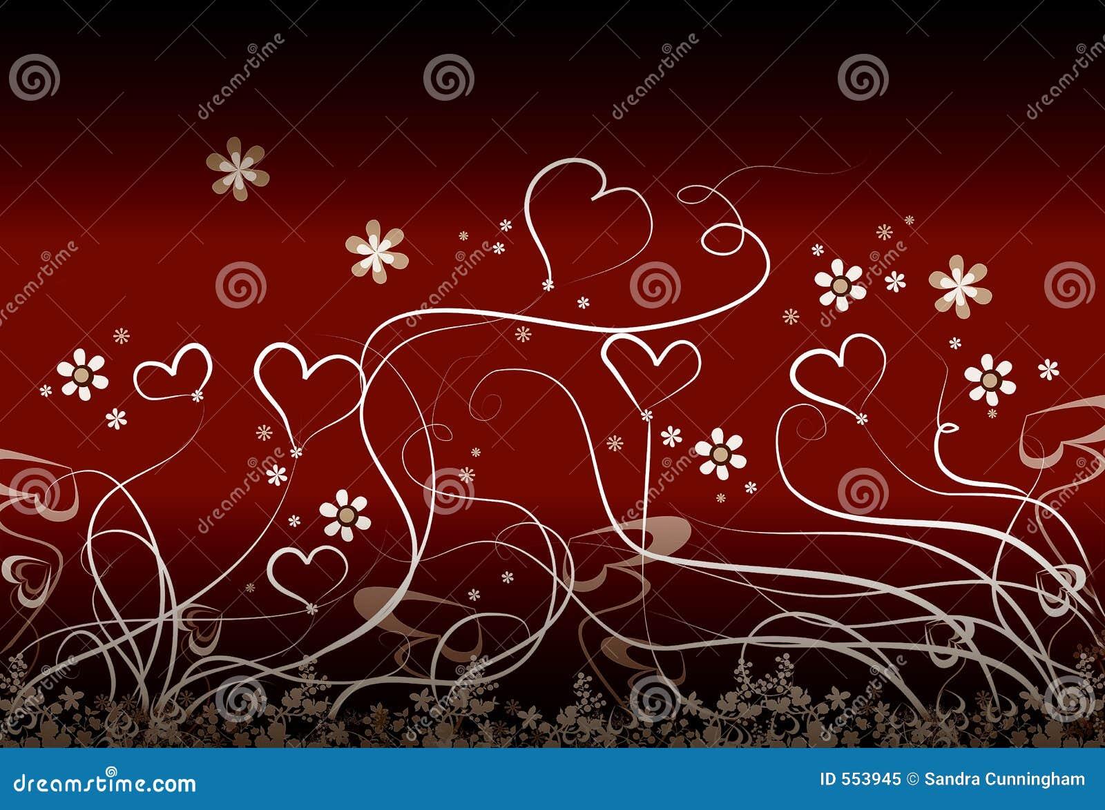 καρδιές λουλουδιών λίγα