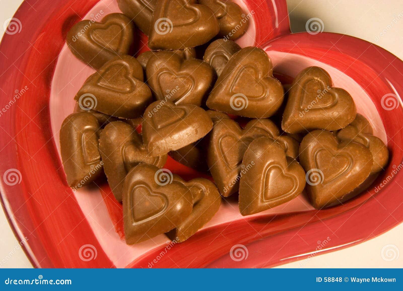 καρδιές σοκολάτας
