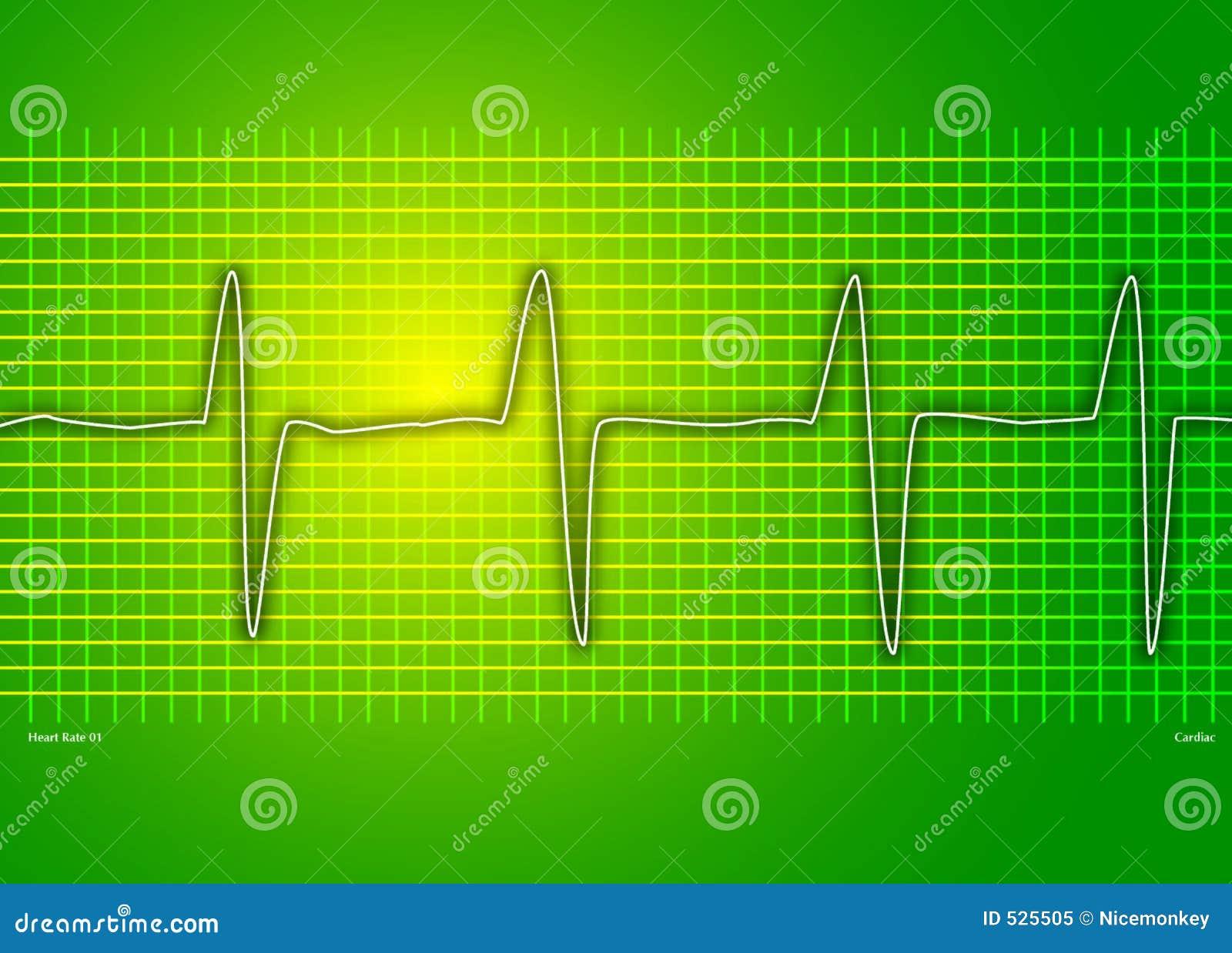 καρδιακή γραφική παράσταση πράσινη
