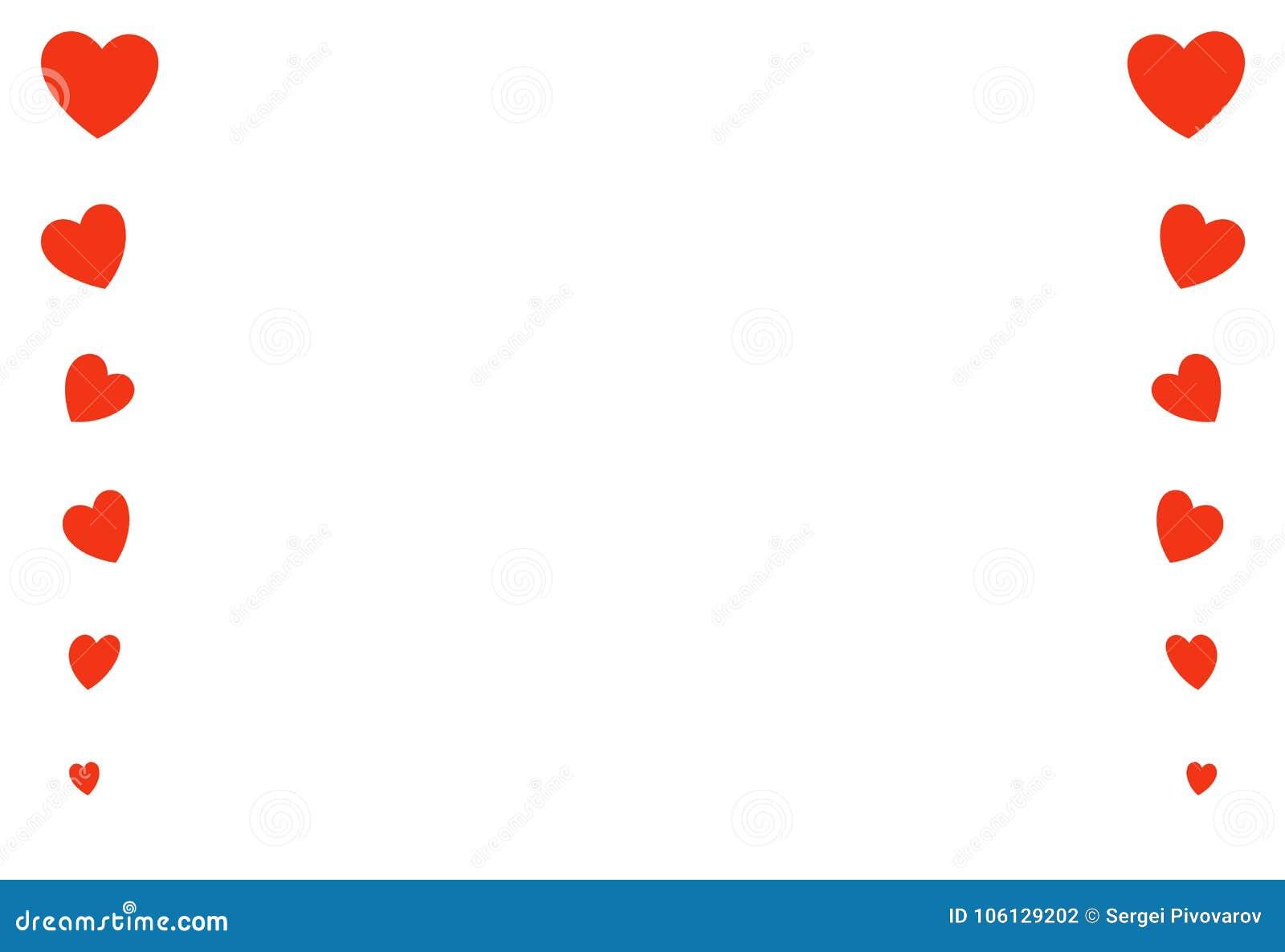 Καρδιών κόκκινος κάθετος γραμμών γάμος ημέρας βαλεντίνων διακοσμήσεων πλαισίων εορταστικός, σύμβολο μορφής από μεγάλο