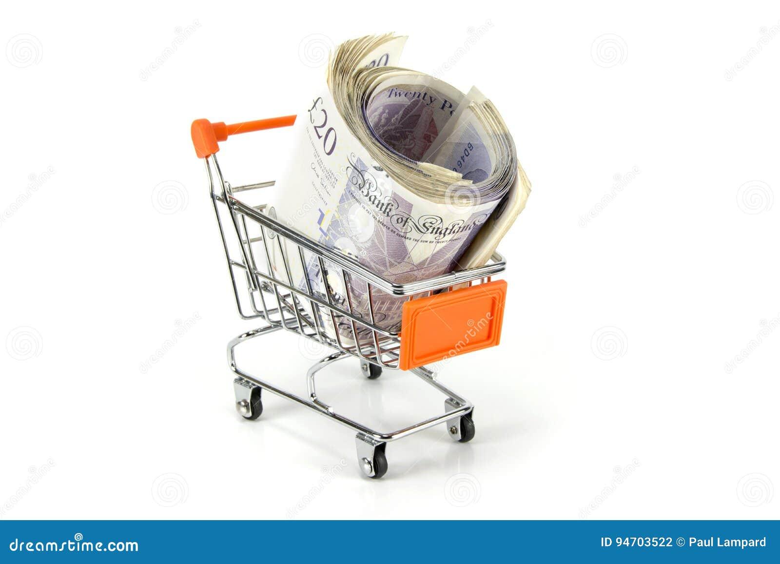 Καροτσάκι αγορών των χρημάτων