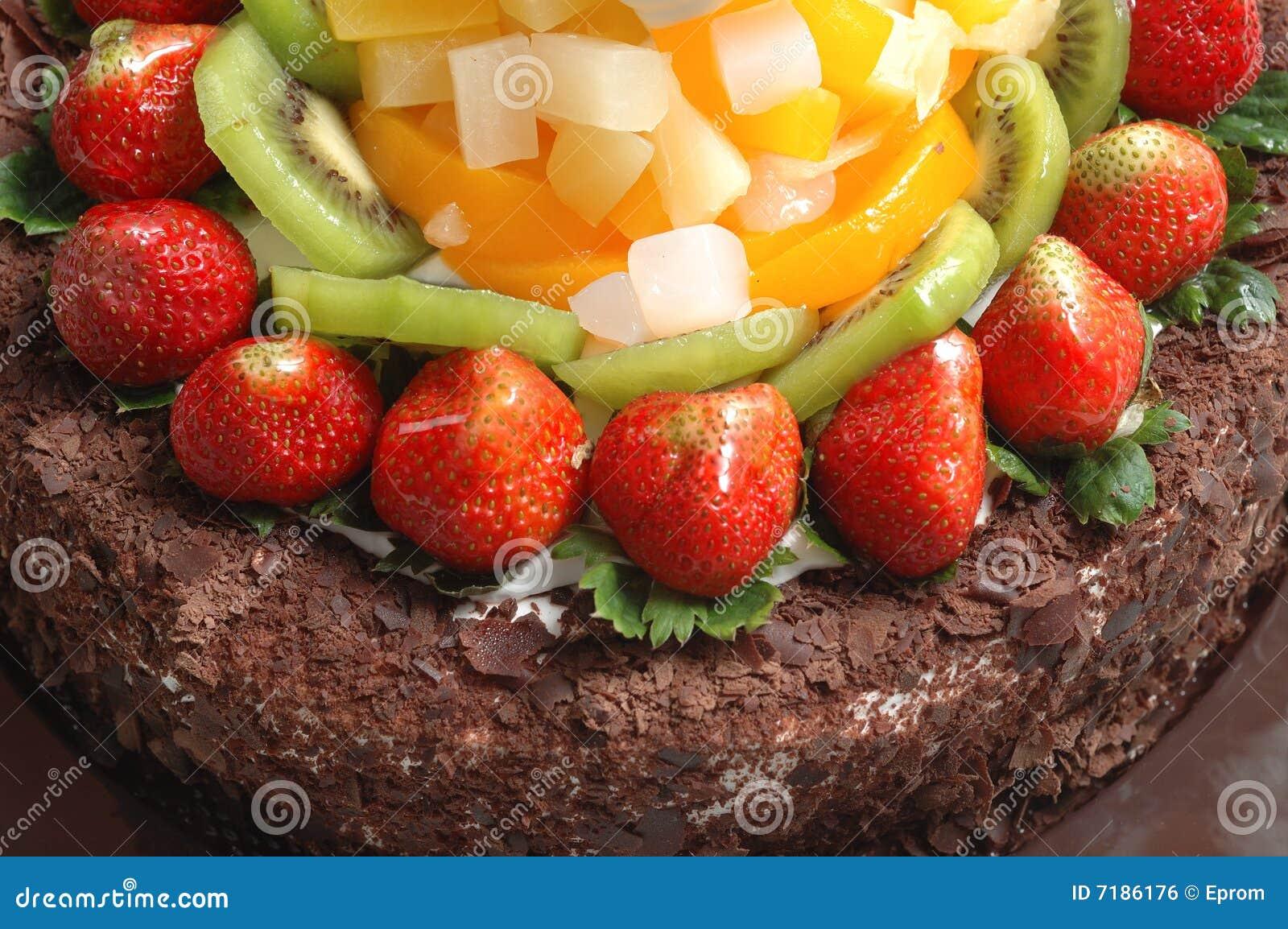 καρποί σοκολάτας κέικ