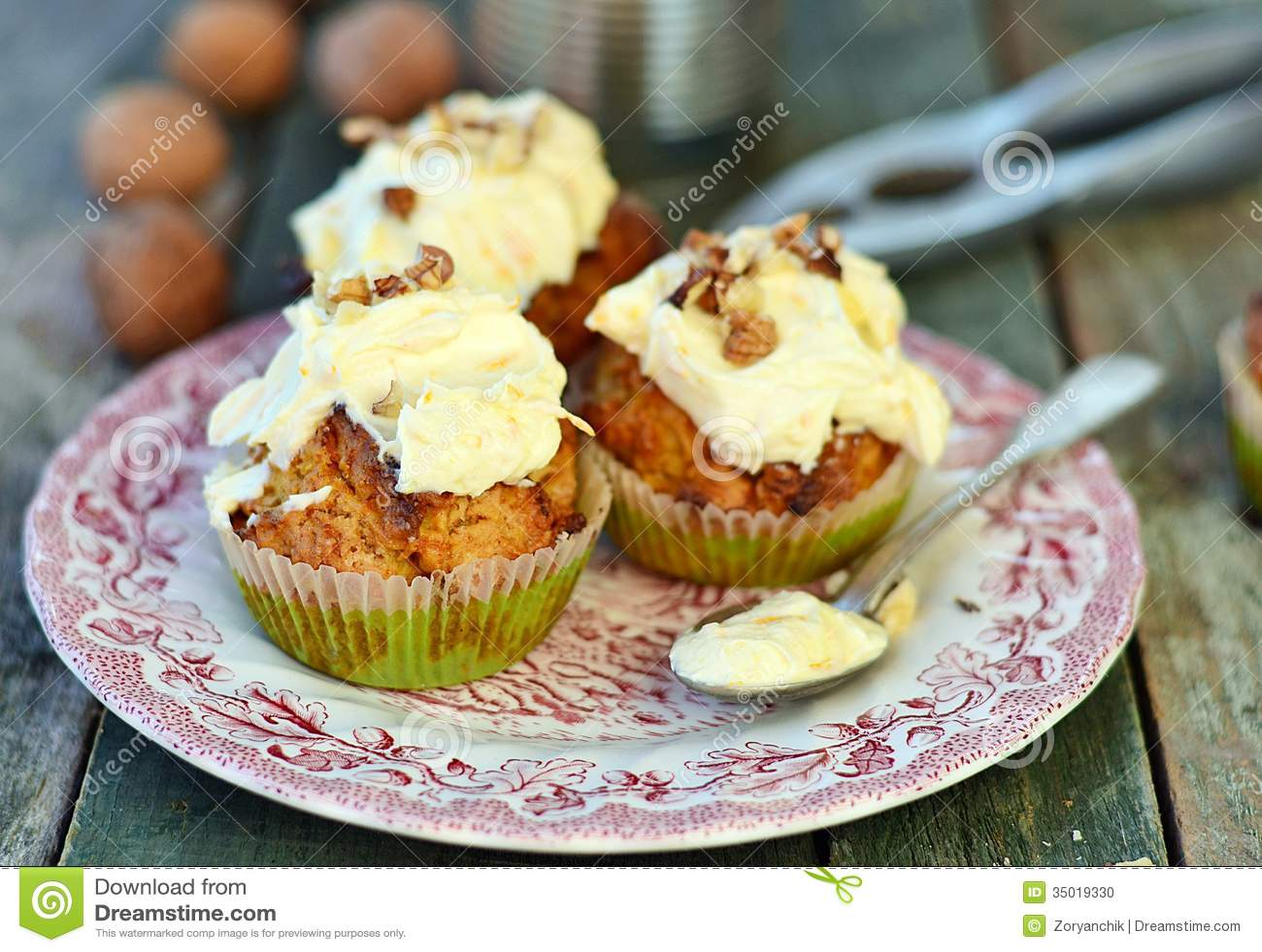 Καρότο cupcakes