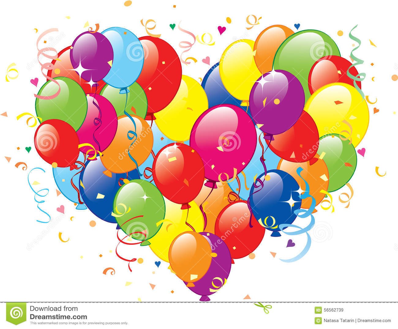 Download καρδιά μπαλονιών διανυσματική απεικόνιση. εικονογραφία από πρότυπο - 56562739