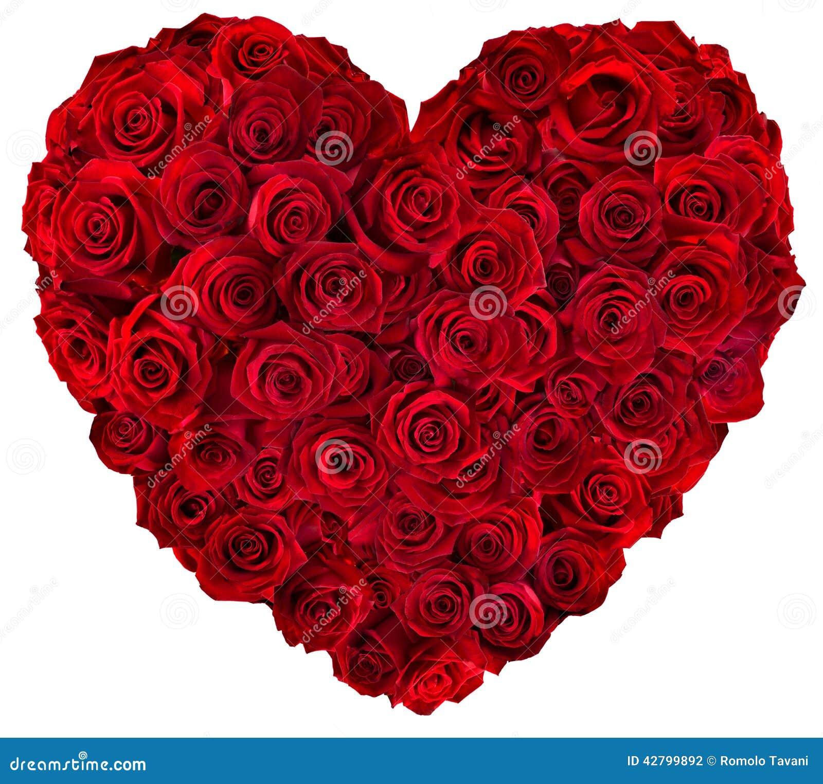 Καρδιά των κόκκινων τριαντάφυλλων