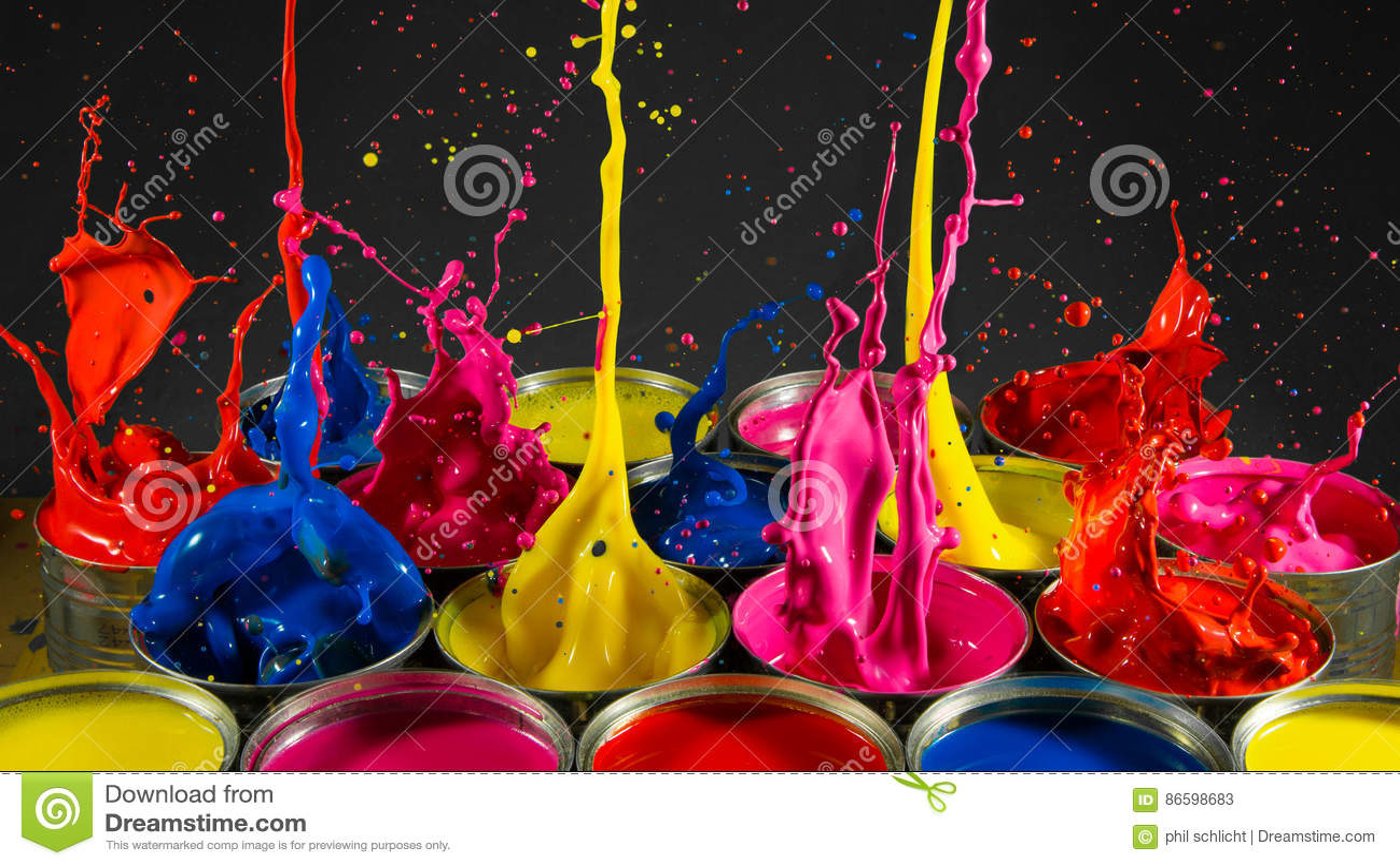Κασσίτεροι παφλασμών χρωμάτων