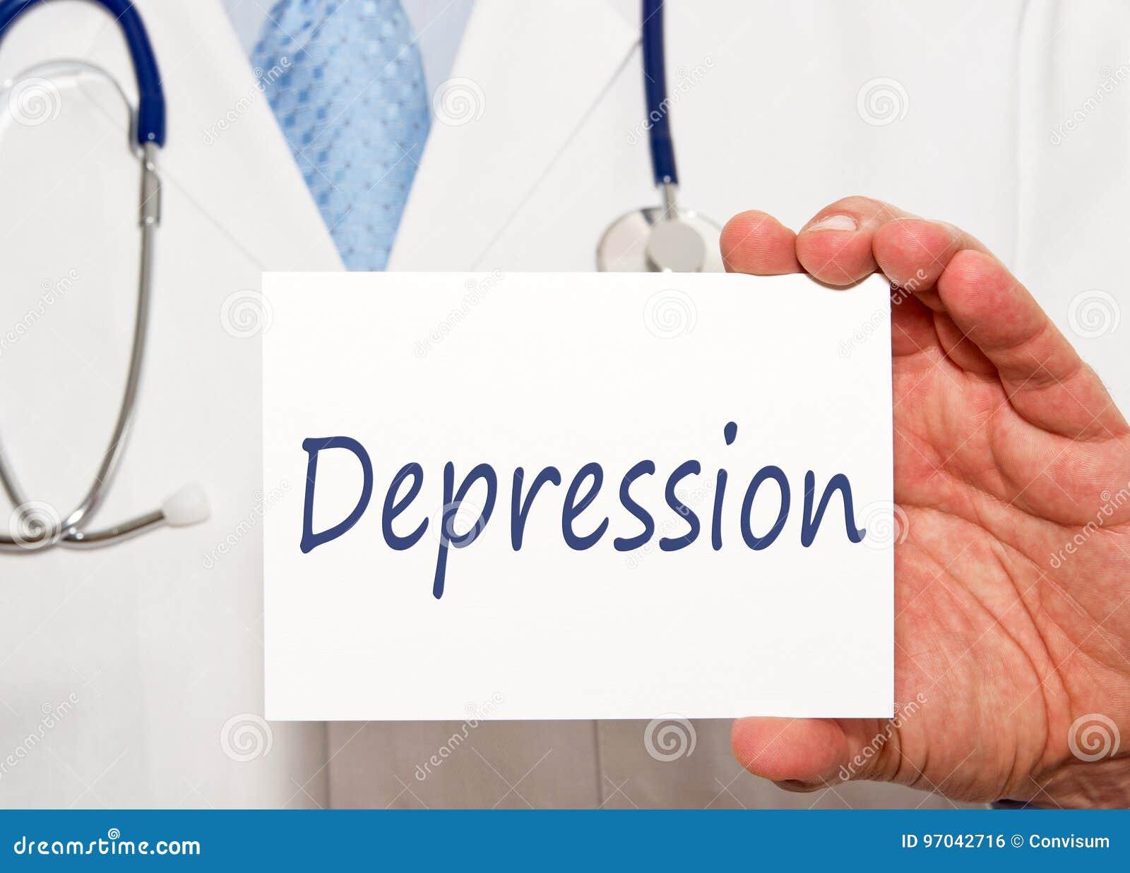 Κατάθλιψη - σημάδι εκμετάλλευσης γιατρών με το κείμενο