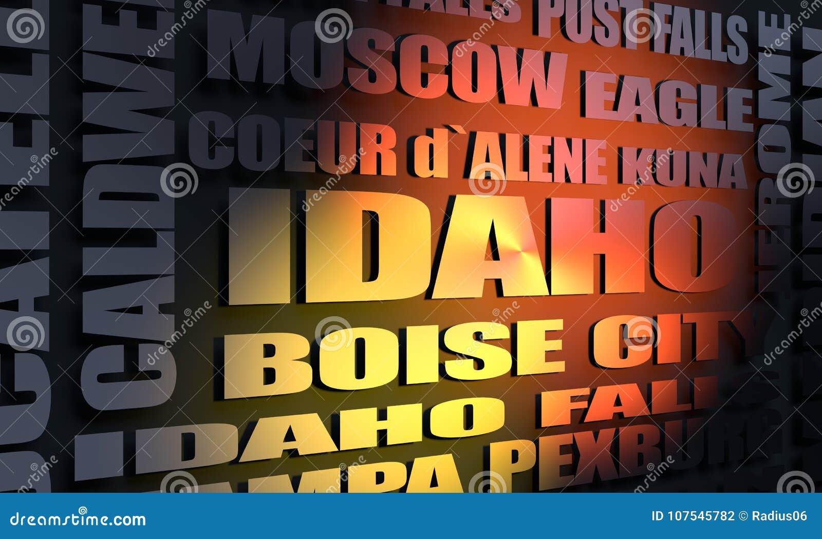 Κατάλογος πόλεων του Αϊντάχο