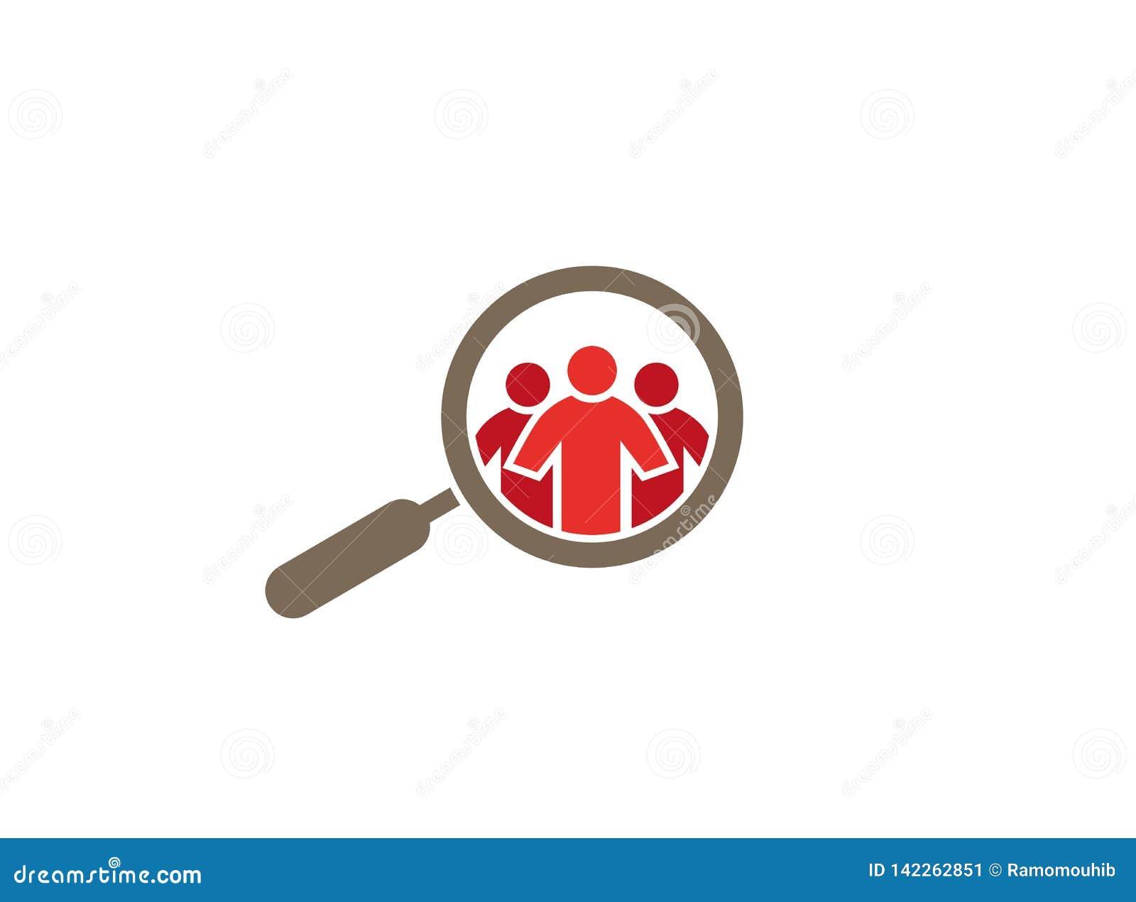 Κατάσκοπος Loupe σε Peaple για το λογότυπο