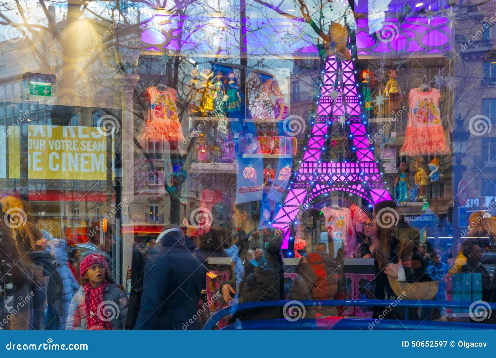 Κατάστημα των παιδιών προθηκών στο Παρίσι, Γαλλία